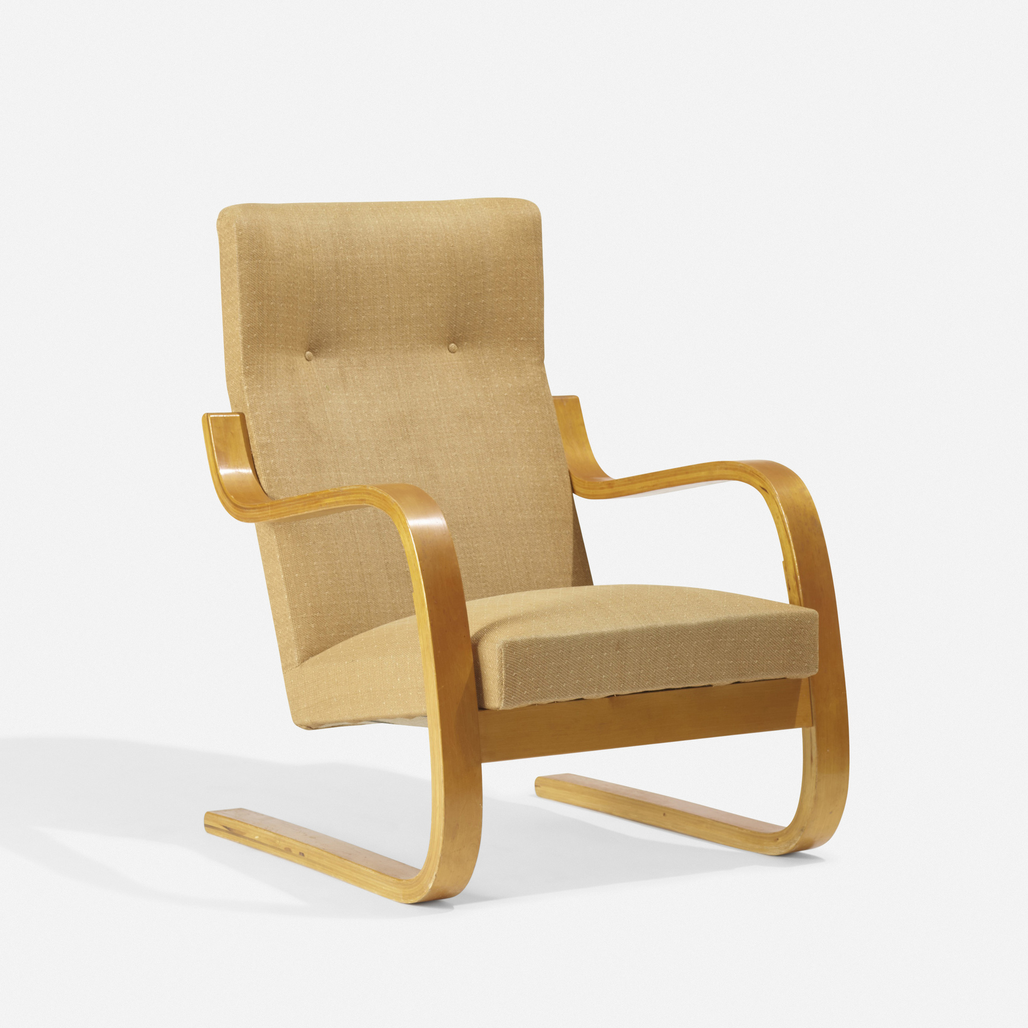 203: Alvar Aalto / Early Cantilevered Armchair, Model 36/401 (1 Of