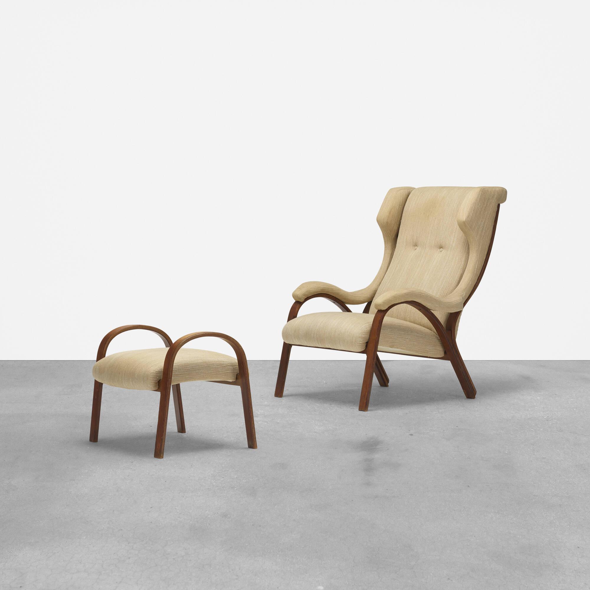 204: Vittorio Gregotti, Lodovico Meneghetti and Giotto Stoppino / prototype Cavour lounge chair and ottoman (1 of 3)