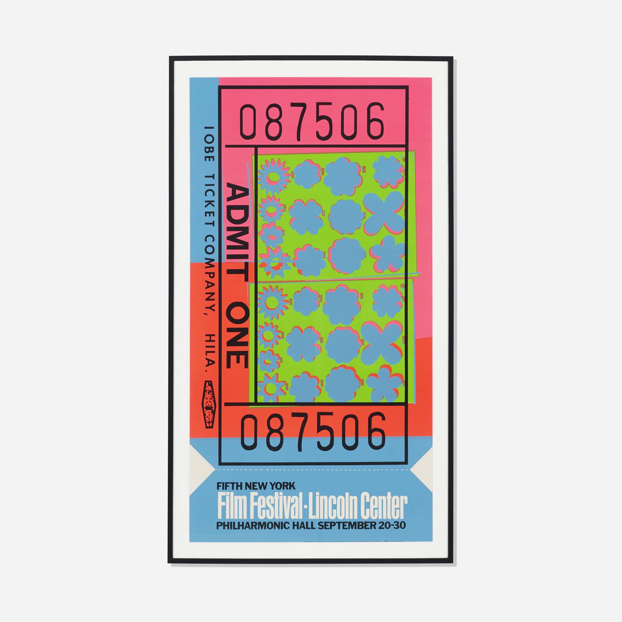 204: ANDY WARHOL, Ticket Stub exhibition poster for the Film ...