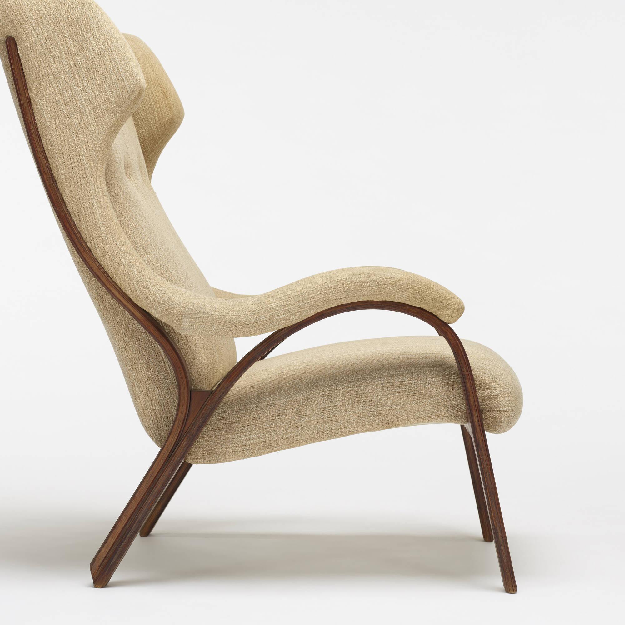 204: Vittorio Gregotti, Lodovico Meneghetti and Giotto Stoppino / prototype Cavour lounge chair and ottoman (3 of 3)