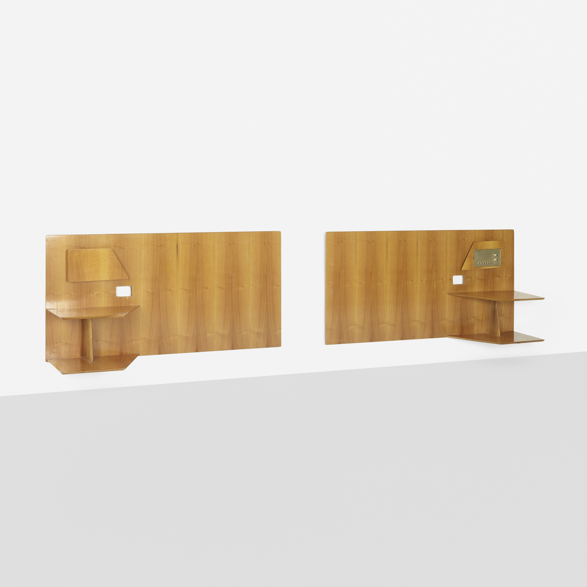 205: Gio Ponti / pair of headboards from the Royal Hotel, Naples (1 of 1)