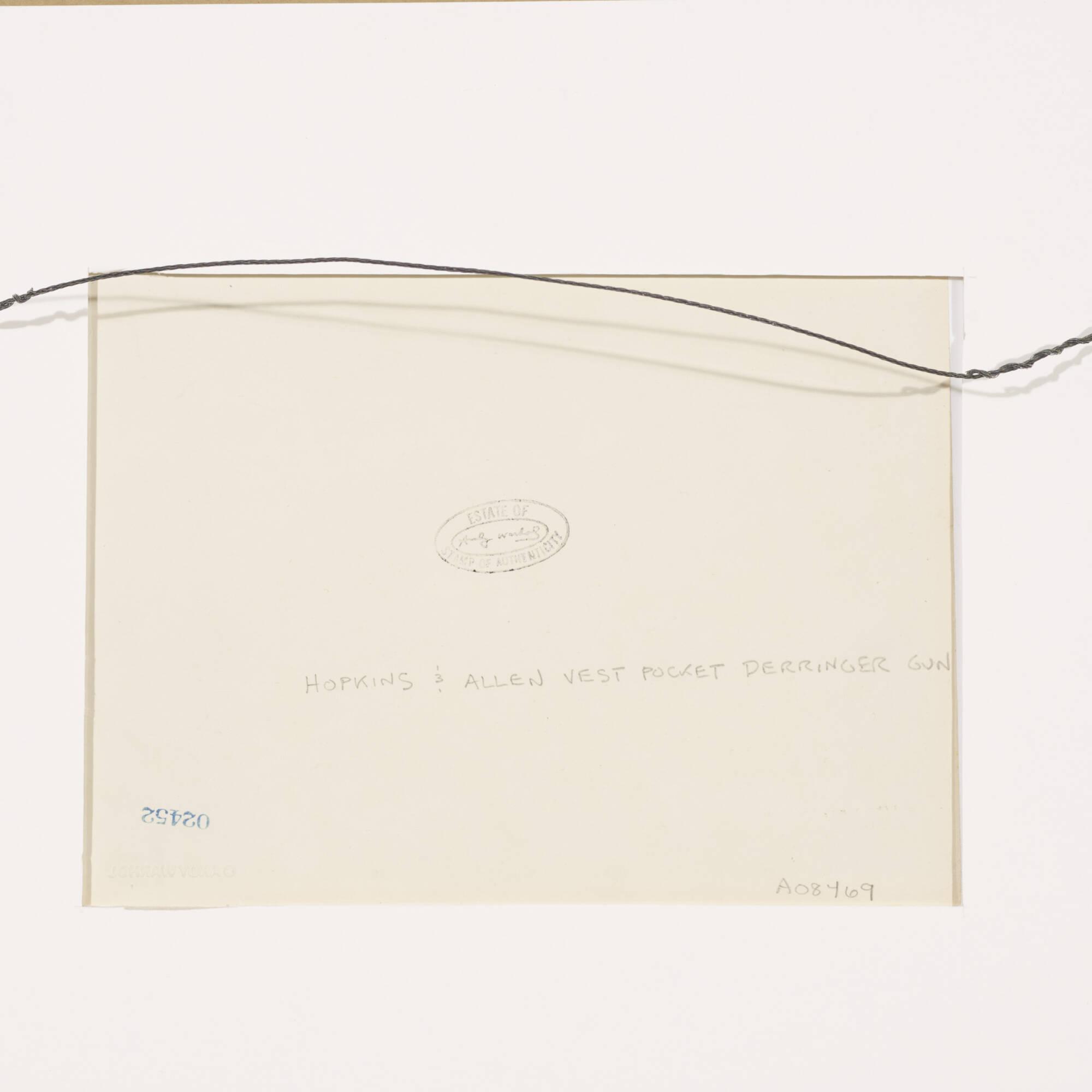 205: Andy Warhol / Untitled (Hopkins & Allen Vest Pocket Derringer Gun) (2 of 2)