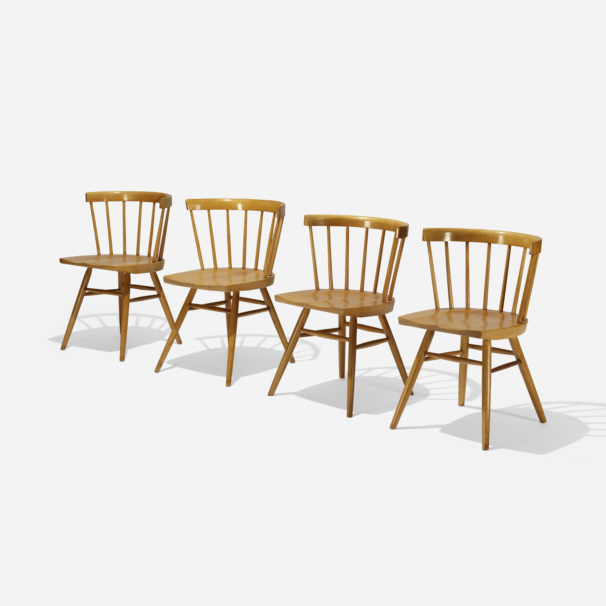 206: George Nakashima / Dining Chairs Model N19, Set Of Four (1 Of