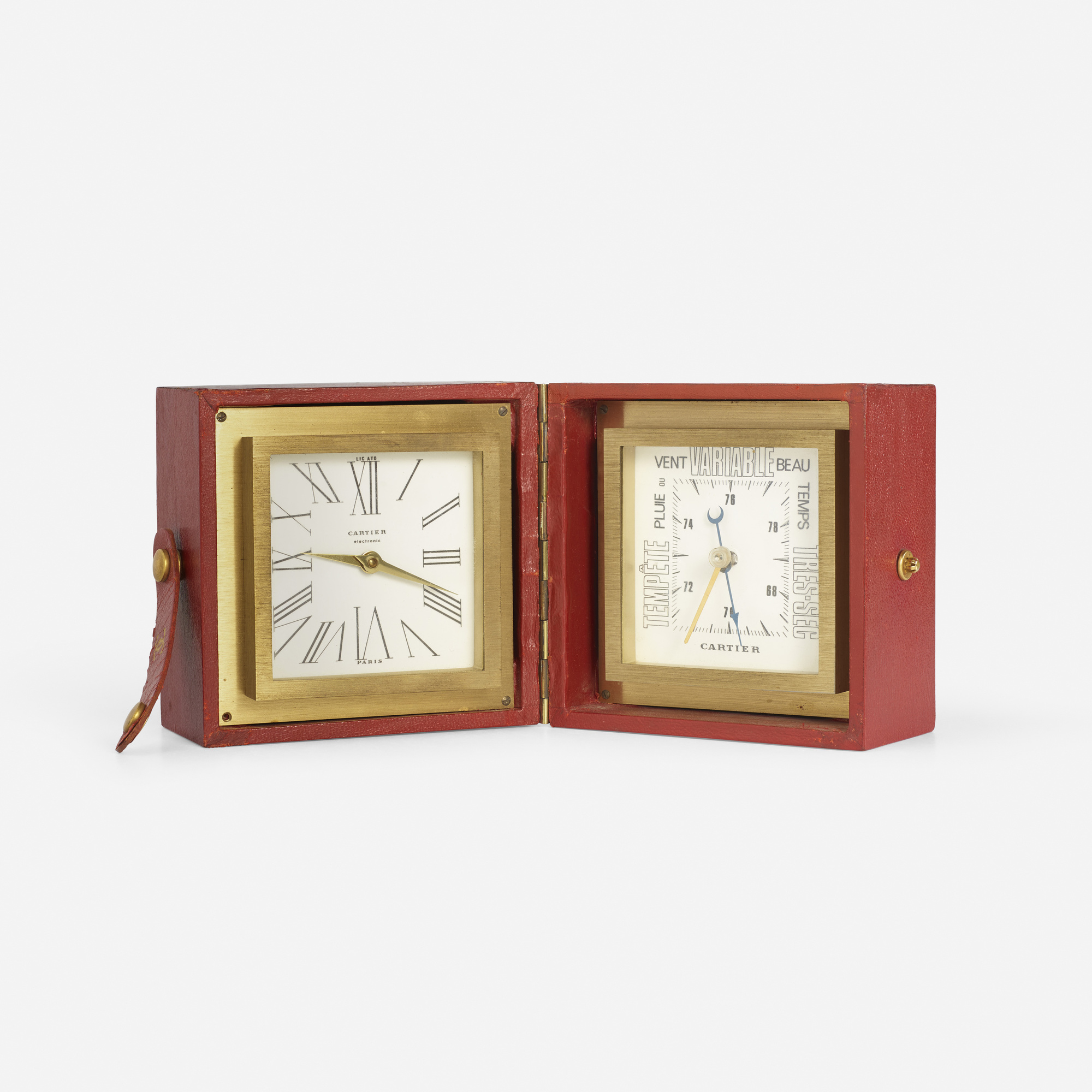 206: Cartier / A desk clock and barometer (1 of 2)