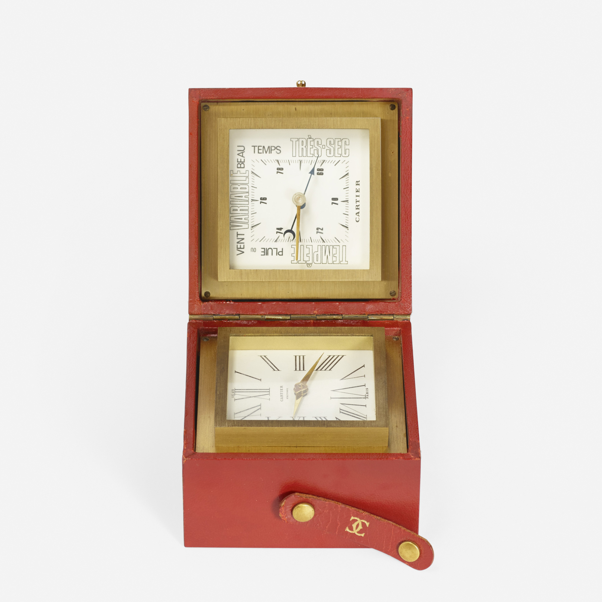 206: Cartier / A desk clock and barometer (2 of 2)