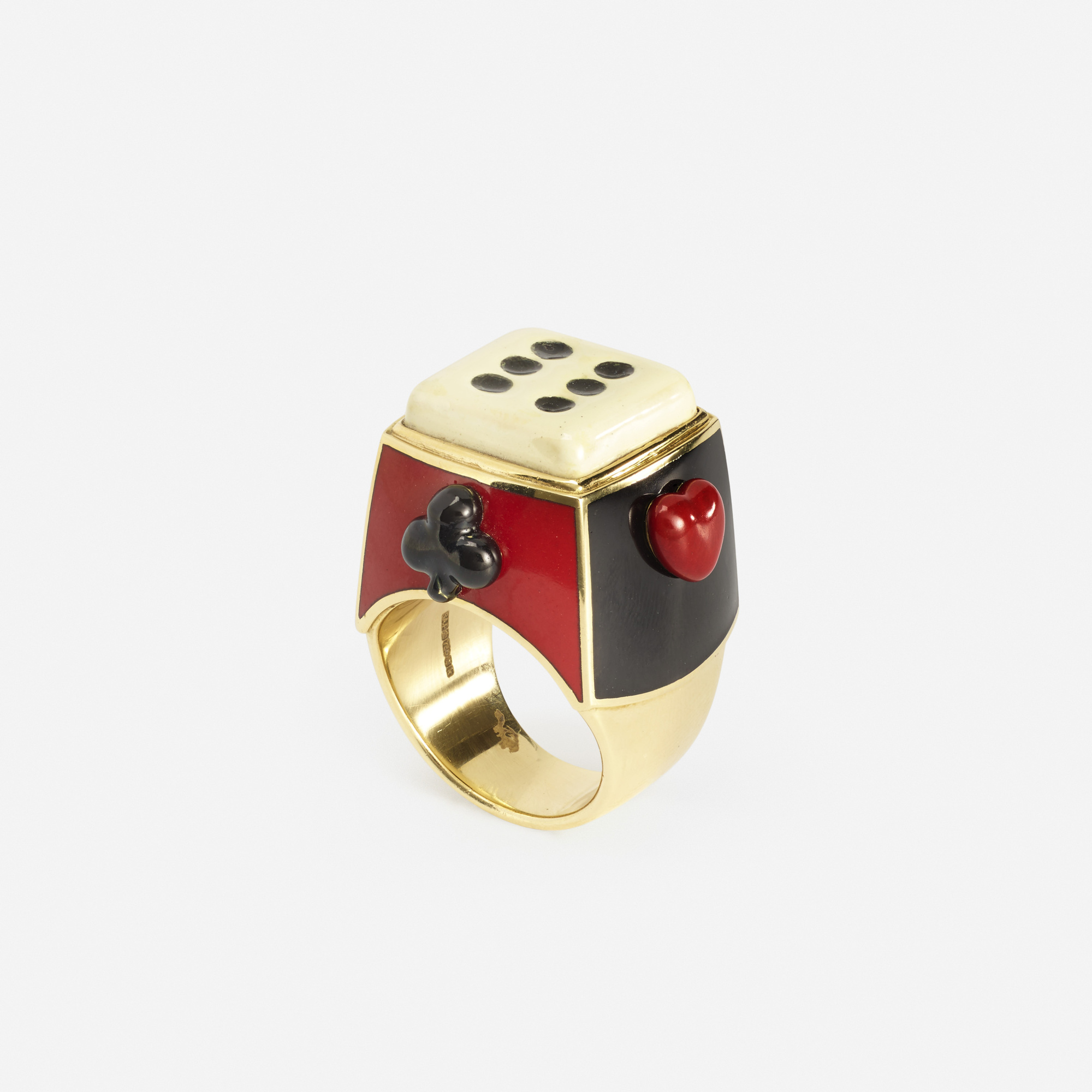 208: Solange Azagury-Partridge / A gold and enamel gaming ring (1 of 2)