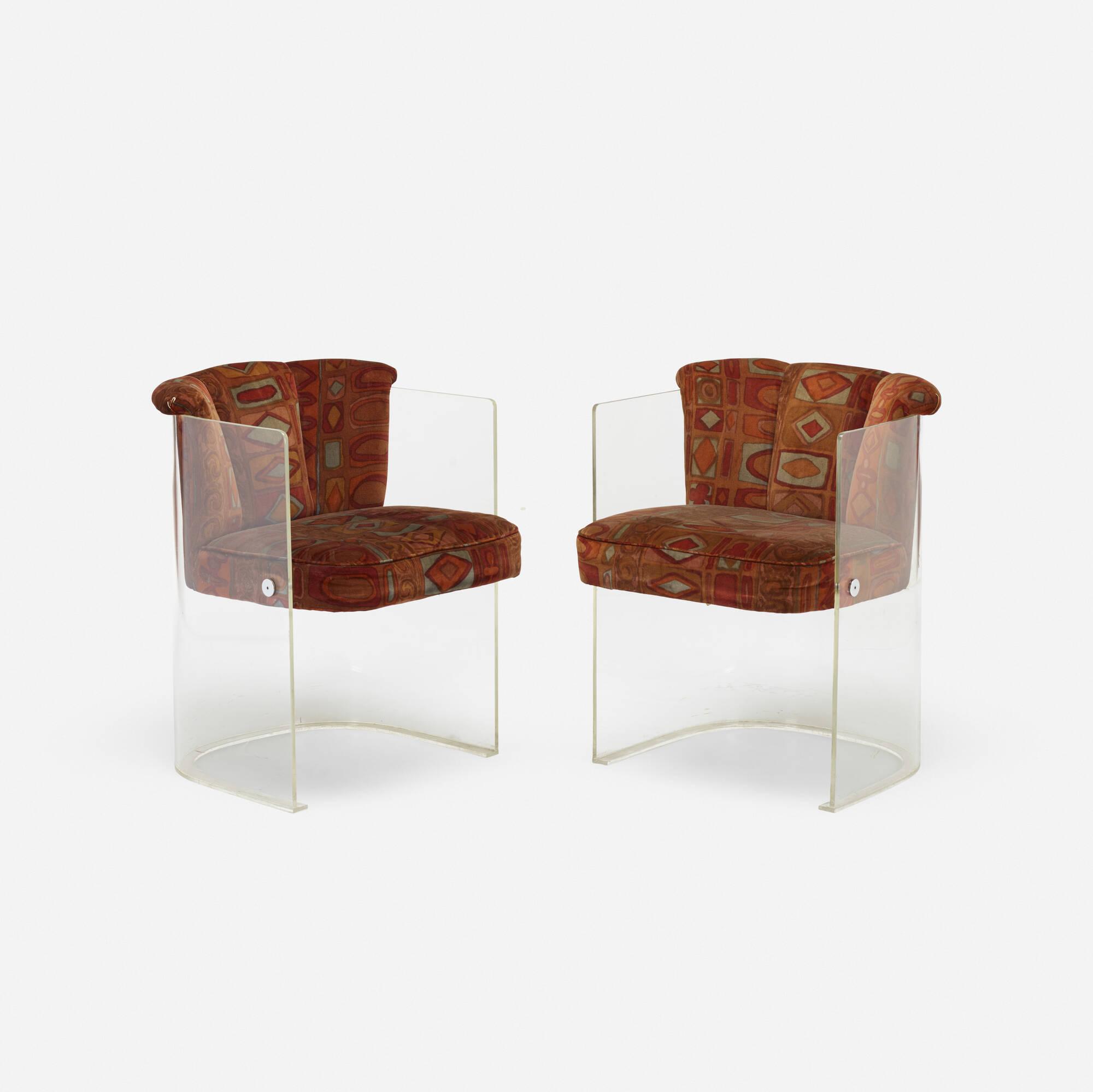 208: Vladimir Kagan / chairs model 6700, pair (1 of 3)