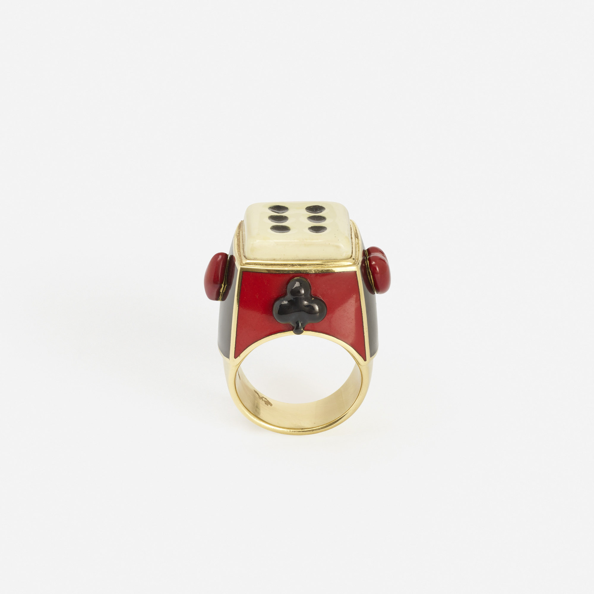 208: Solange Azagury-Partridge / A gold and enamel gaming ring (2 of 2)