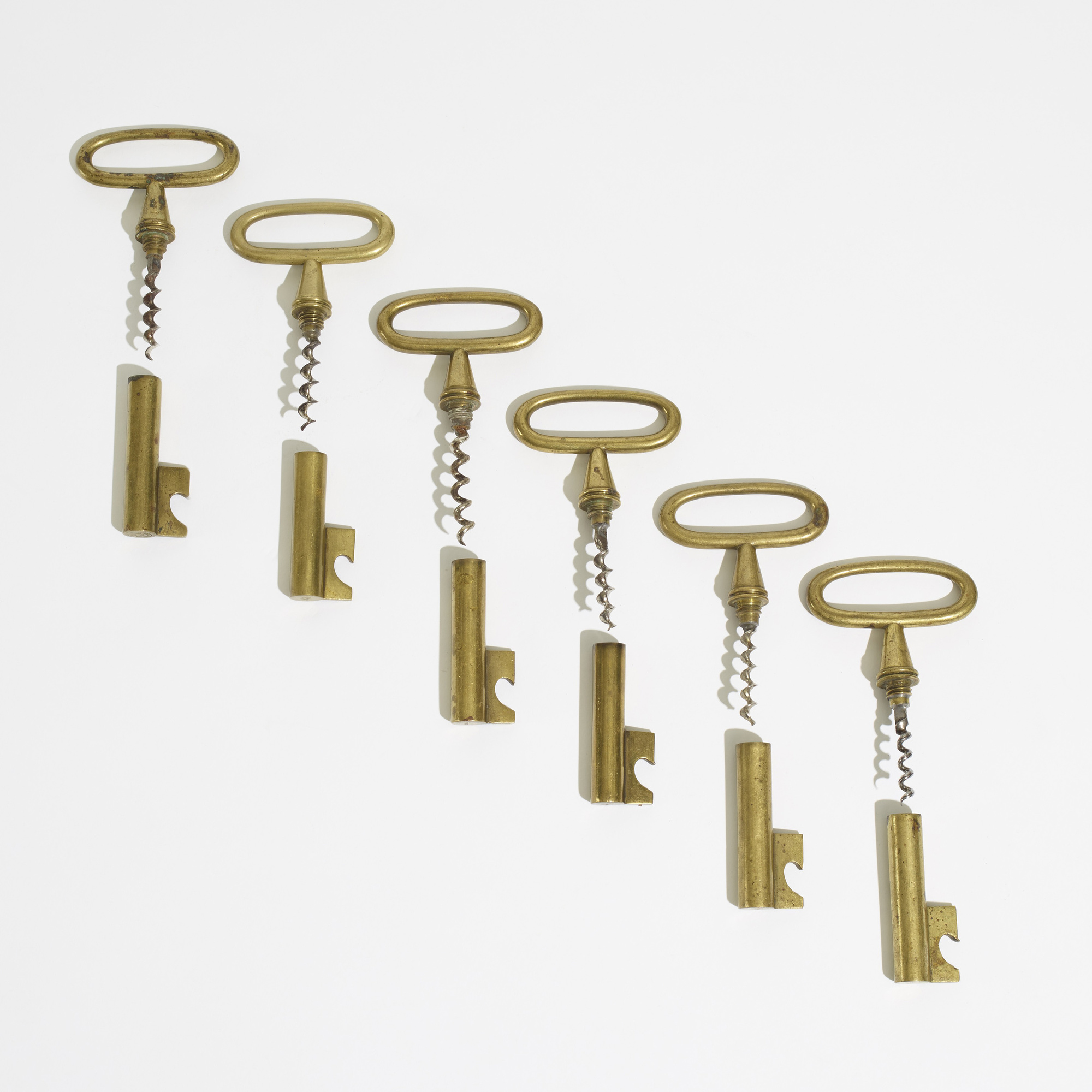 208: Carl Auböck II / corkscrews, set of six (2 of 3)
