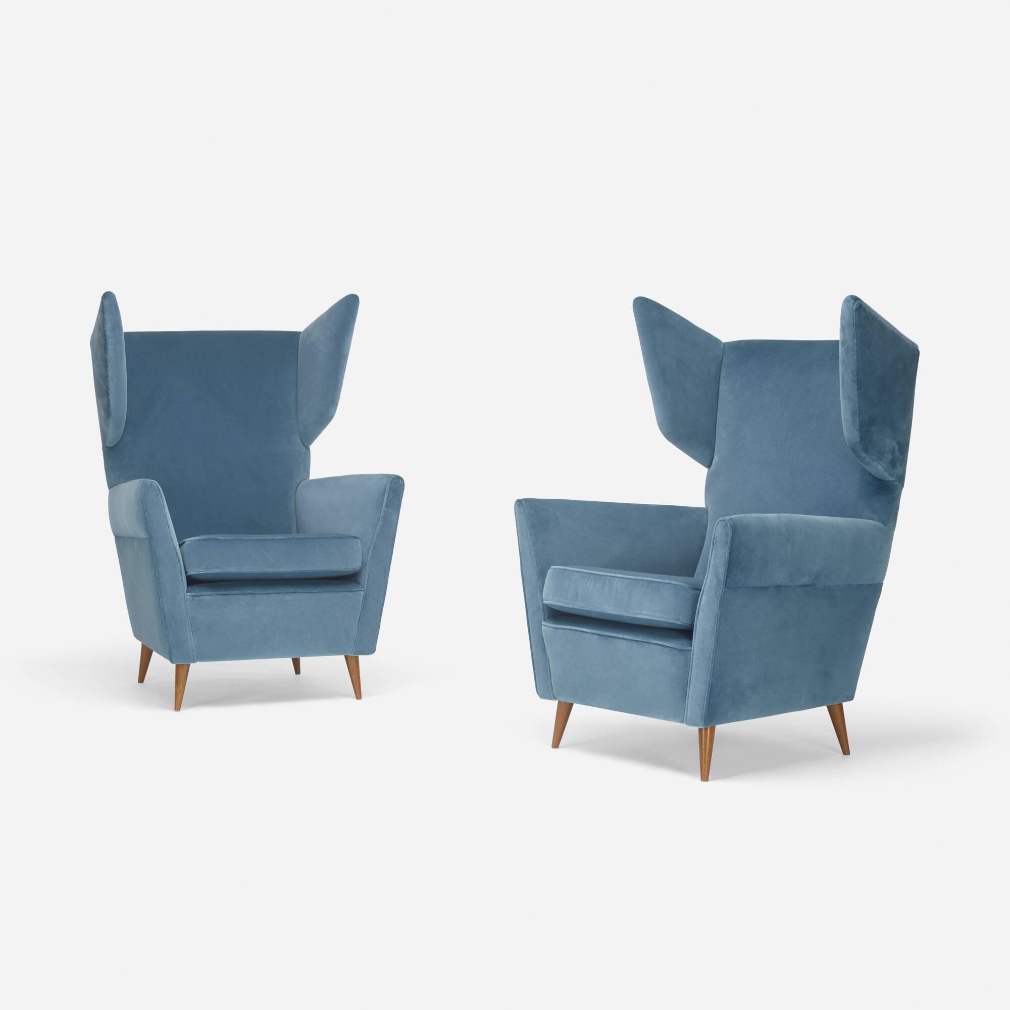 Beau 209: Gio Ponti / Lounge Chairs, Pair (1 Of 3)