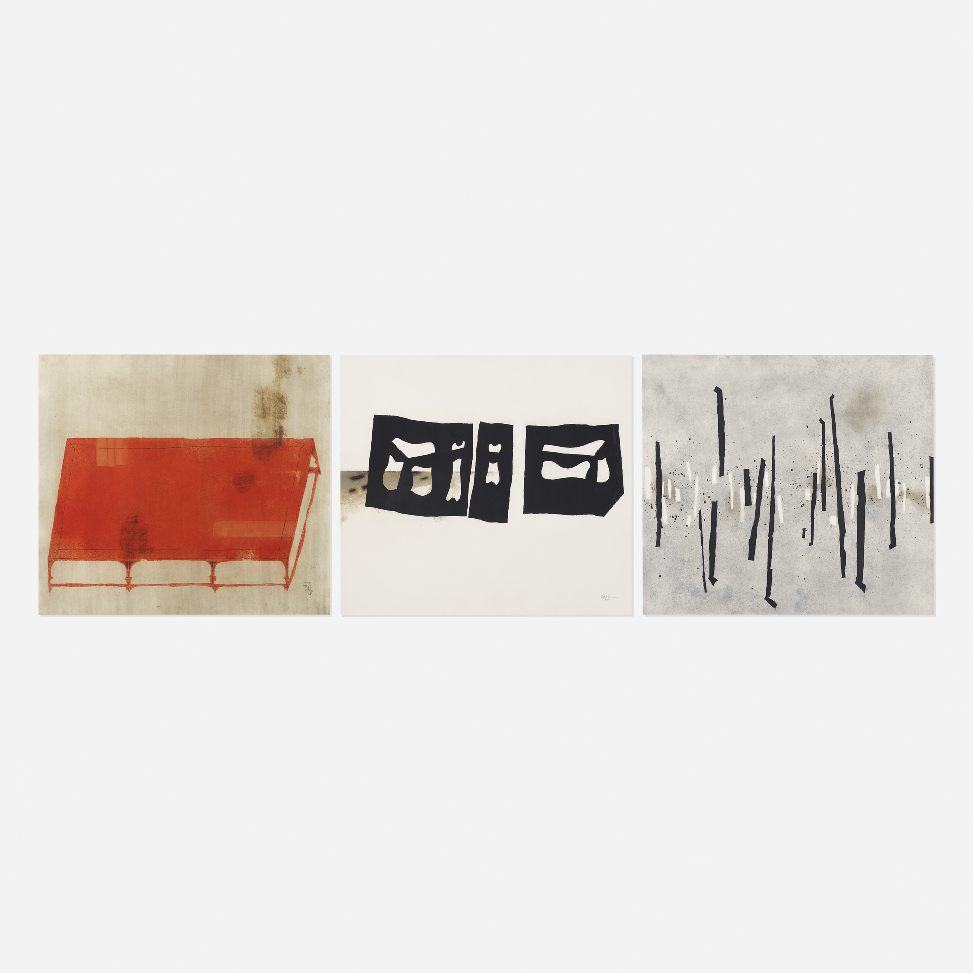 209: Wang Huaiqing / Daybed 1, Chinese Couch and Walking (three works) (1 of 1)