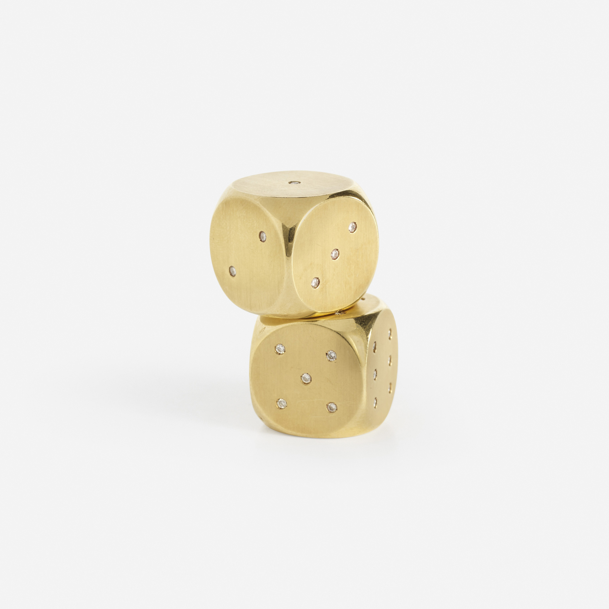 210: Bulgari / A pair of gold and diamond dice (1 of 3)