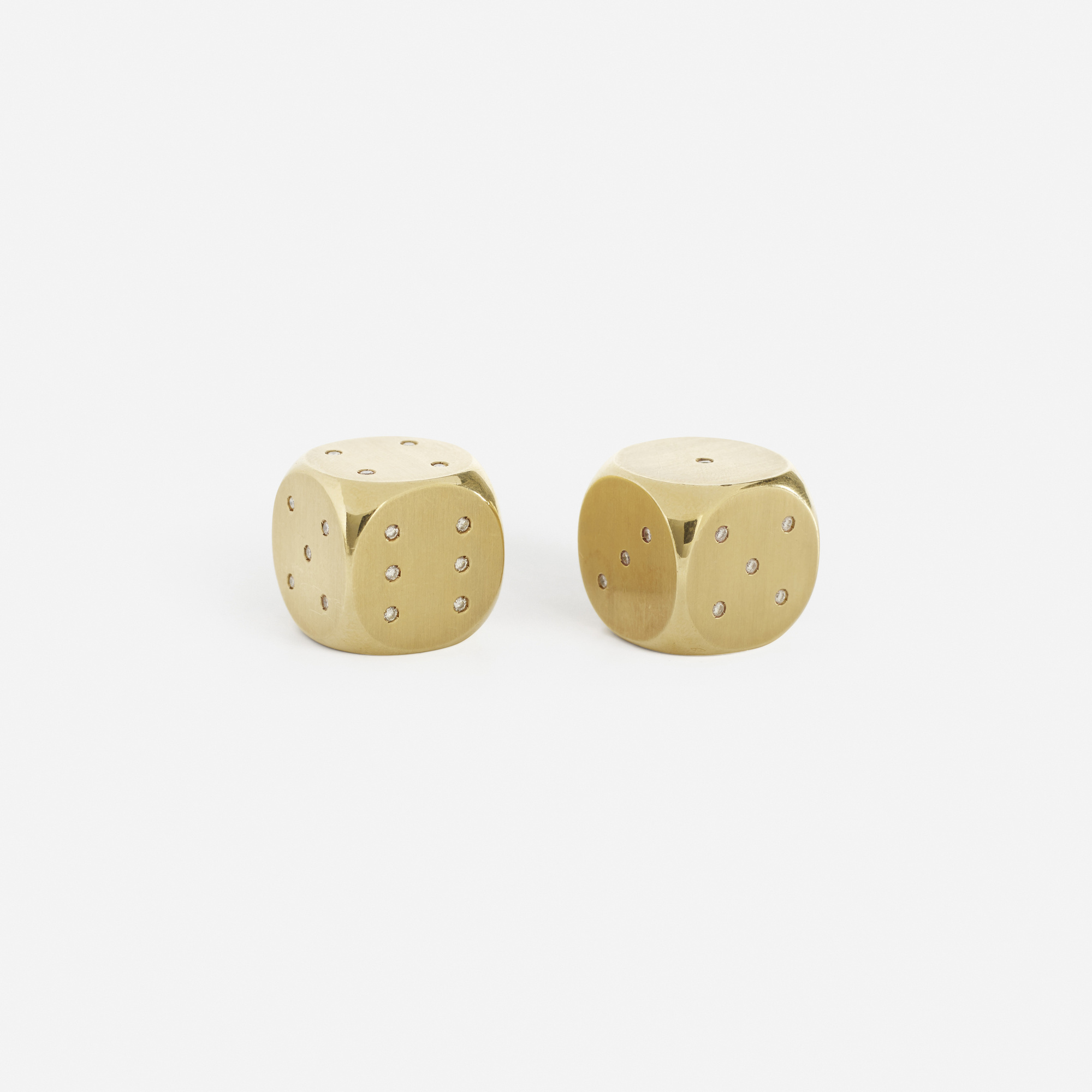 210: Bulgari / A pair of gold and diamond dice (2 of 3)