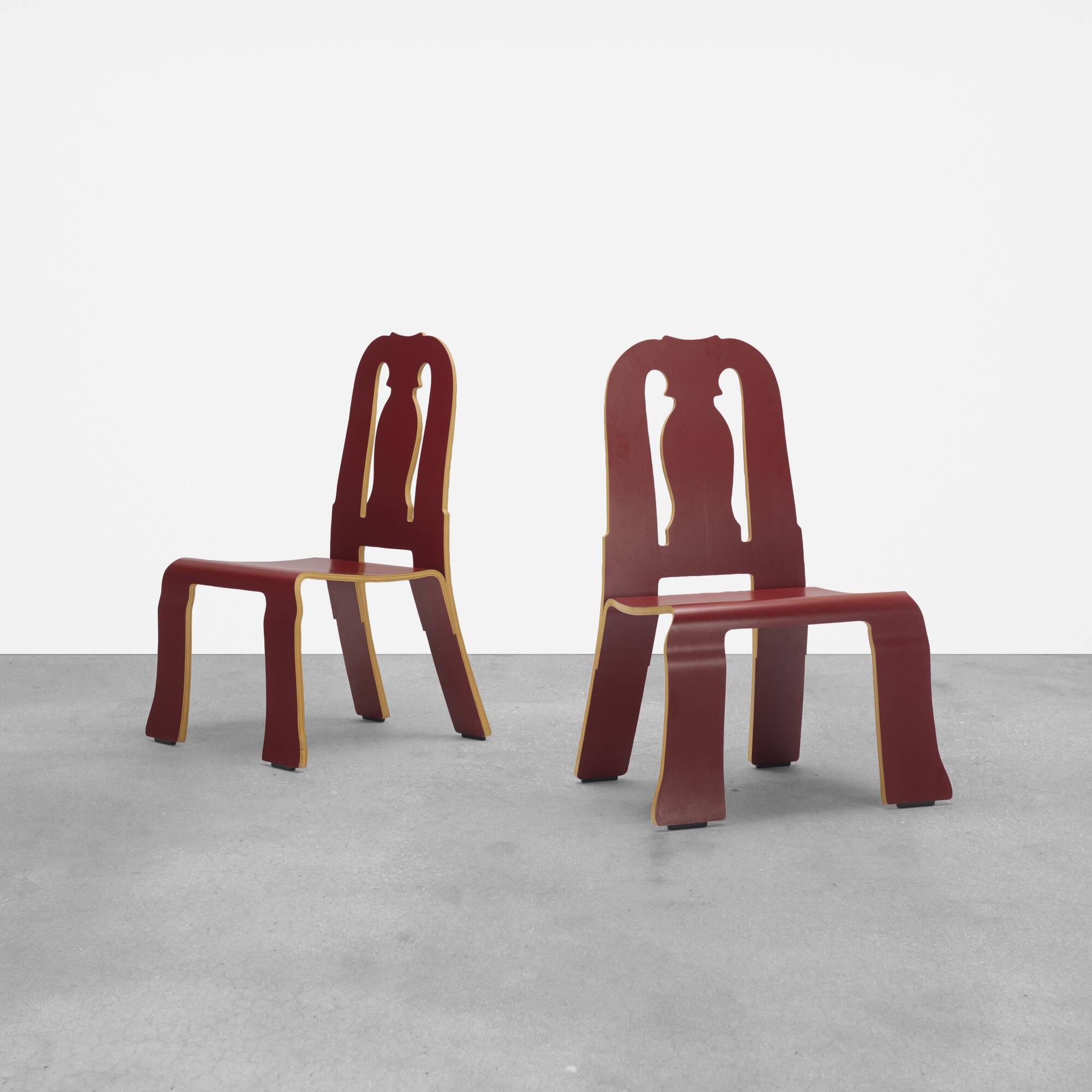211: Robert Venturi with Denise Scott Brown / Queen Anne chairs, pair (1 of 3)