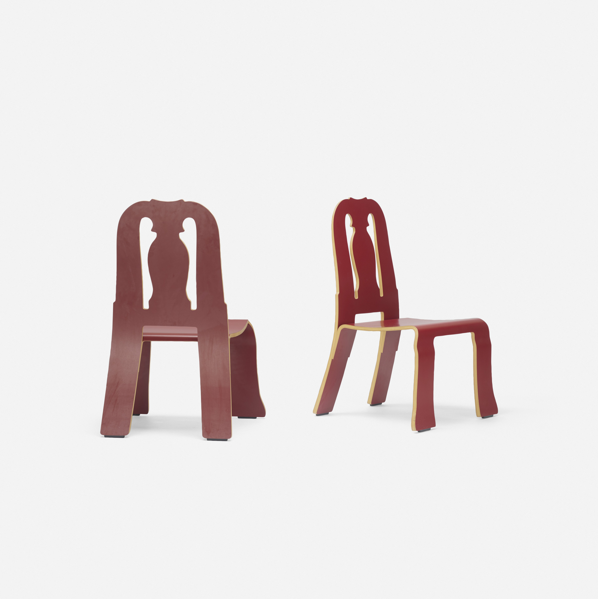 211: Robert Venturi with Denise Scott Brown / Queen Anne chairs, pair (2 of 3)