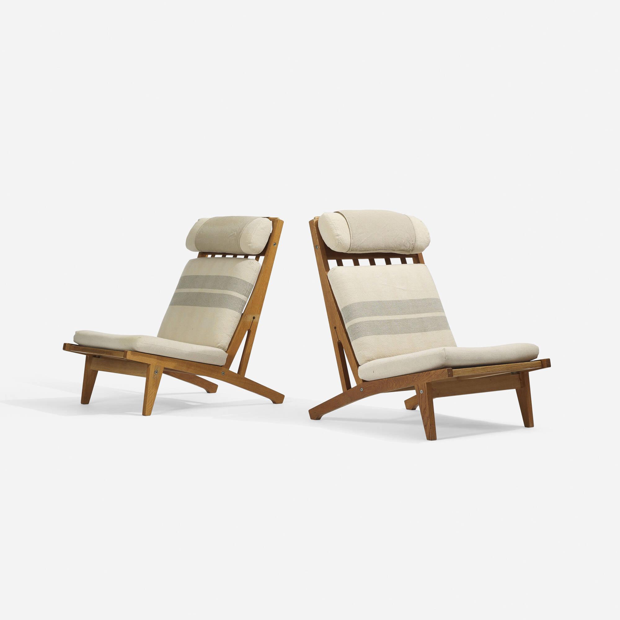 Beautiful ... 211: Hans J. Wegner / Lounge Chairs Model GE375, Pair (2 Of