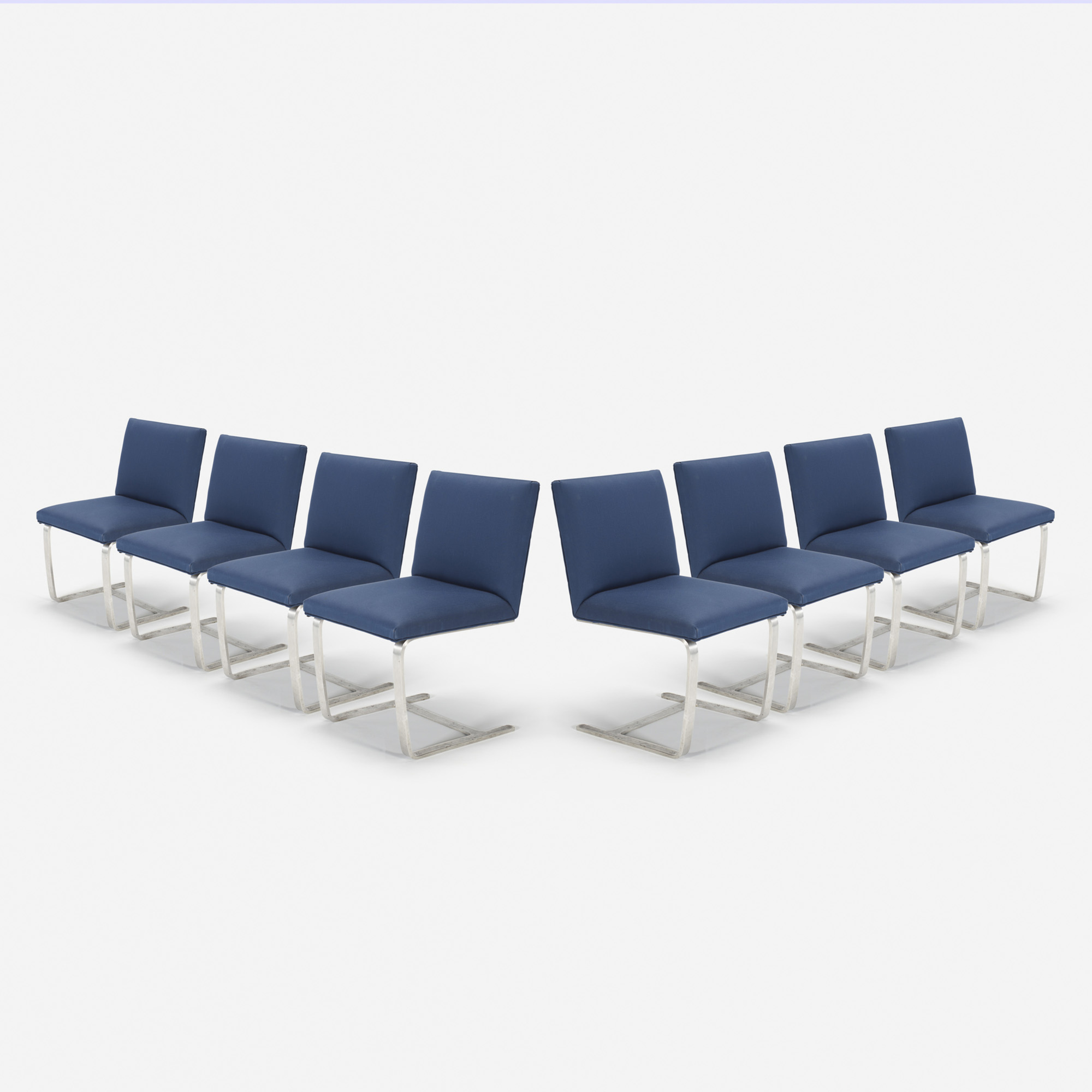 212: Ludwig Mies van der Rohe / Custom Brno side chairs from The Four Seasons, set of eight (1 of 1)