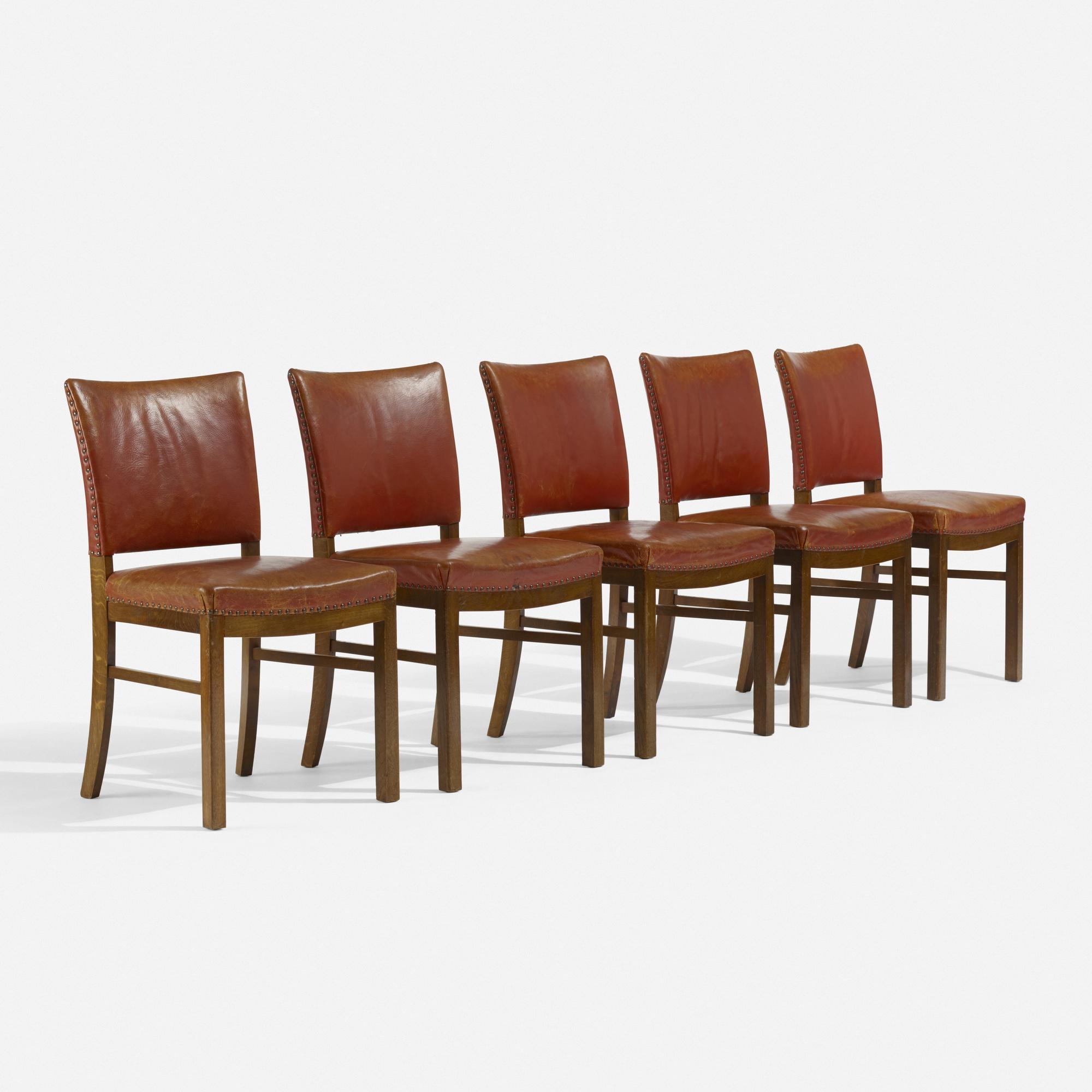 212: FRITZ HANSEN, dining chairs, set of ten < Scandinavian Design