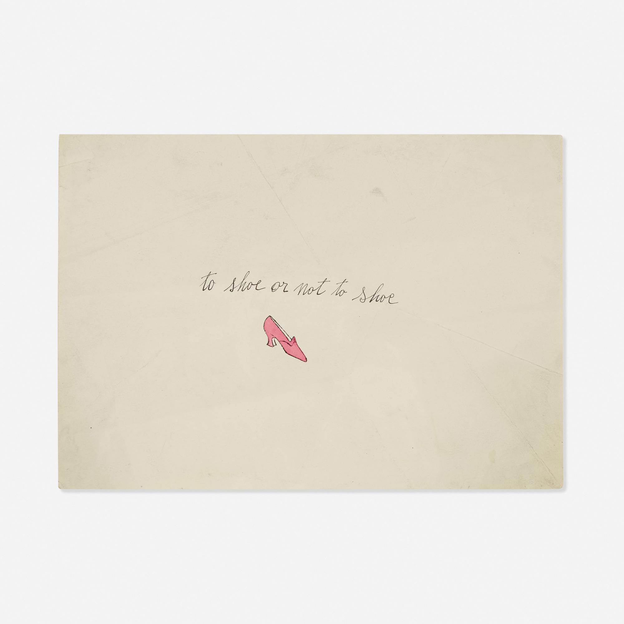 213: Andy Warhol / To Shoe or Not to Shoe (from the À la recherche du shoe perdu portfolio) (1 of 1)