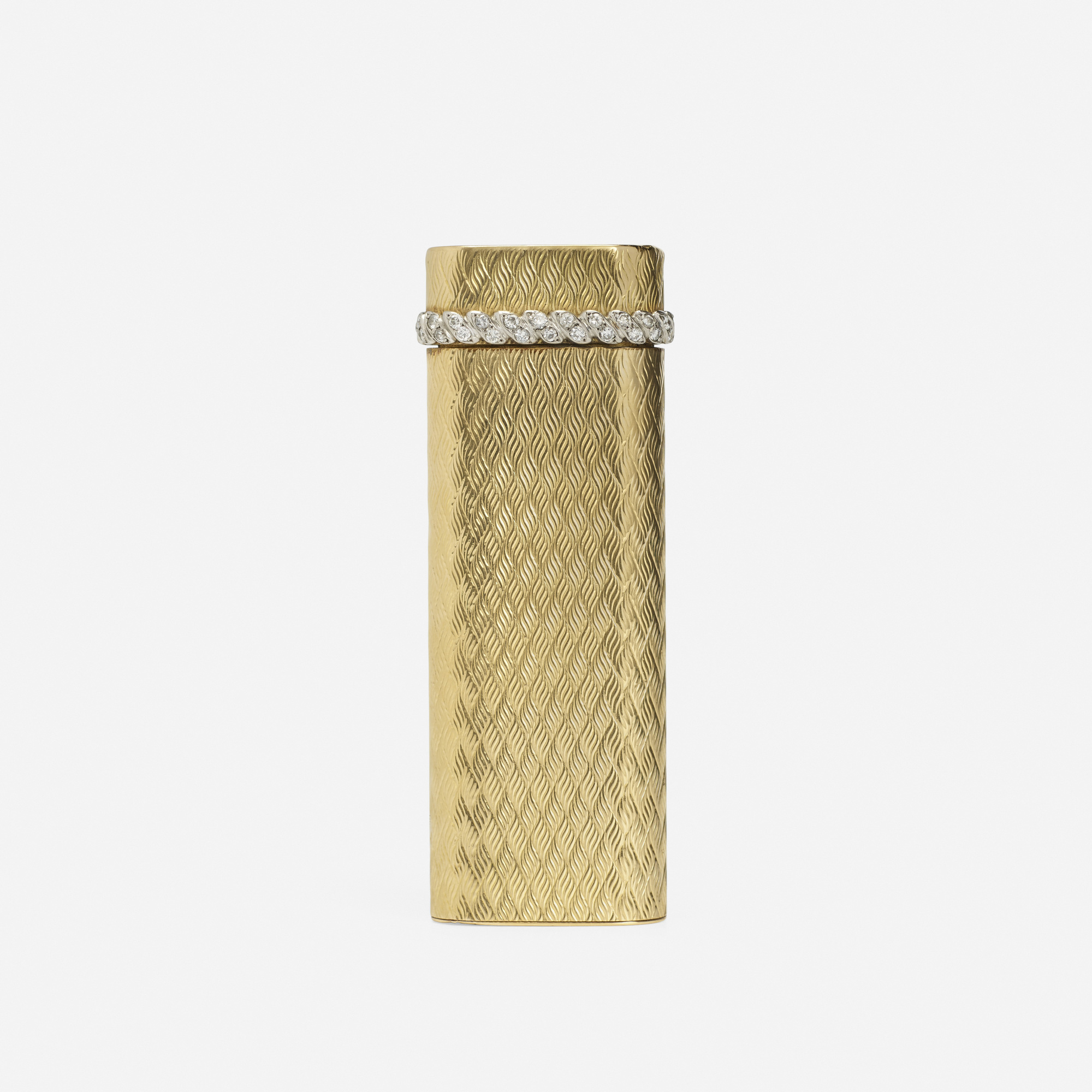 213: Cartier / A gold and diamond lighter (1 of 1)