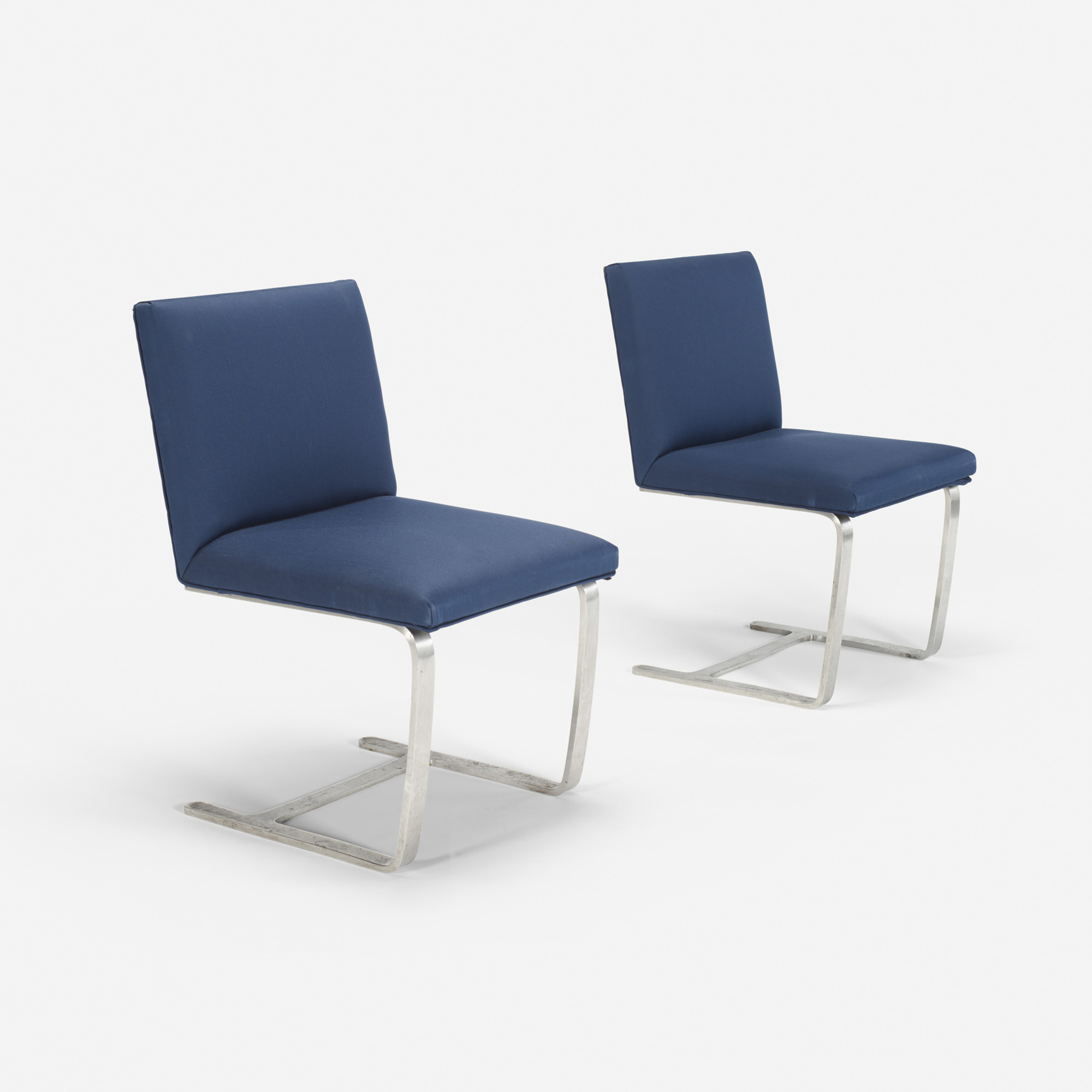 213: Ludwig Mies van der Rohe / Custom Brno side chairs from The Four Seasons, pair (1 of 1)