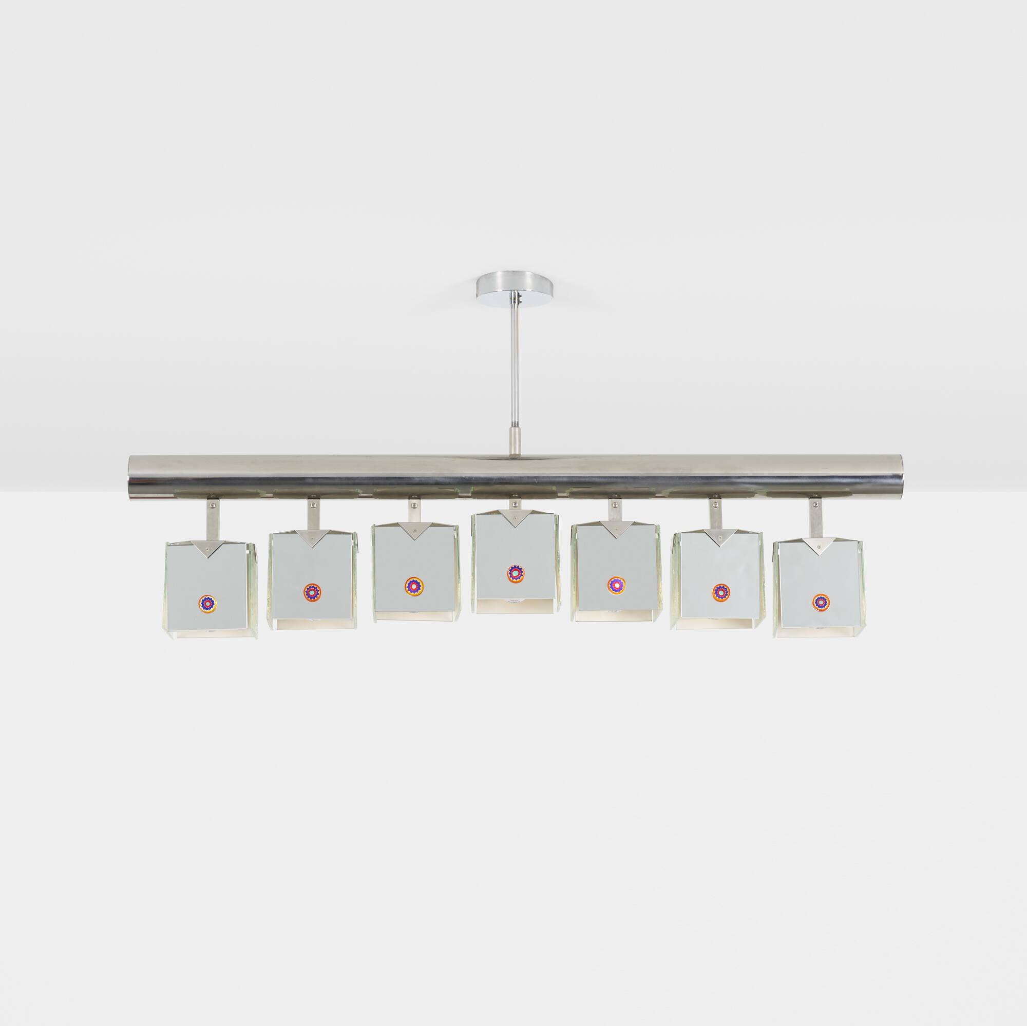 214: Angelo Lelii / Murrine ceiling lamp (1 of 1)