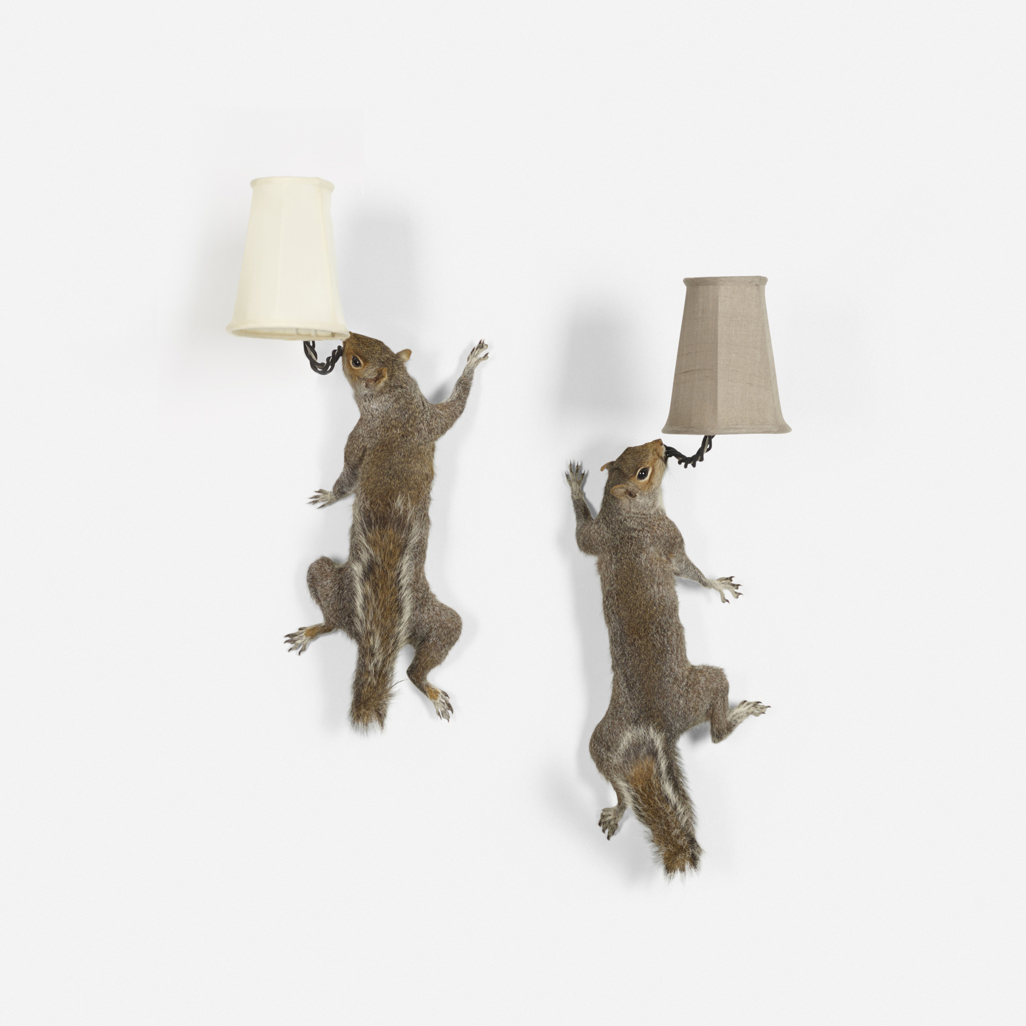 214: Alex Randall / Squirrel Wall Light, pair (1 of 1)
