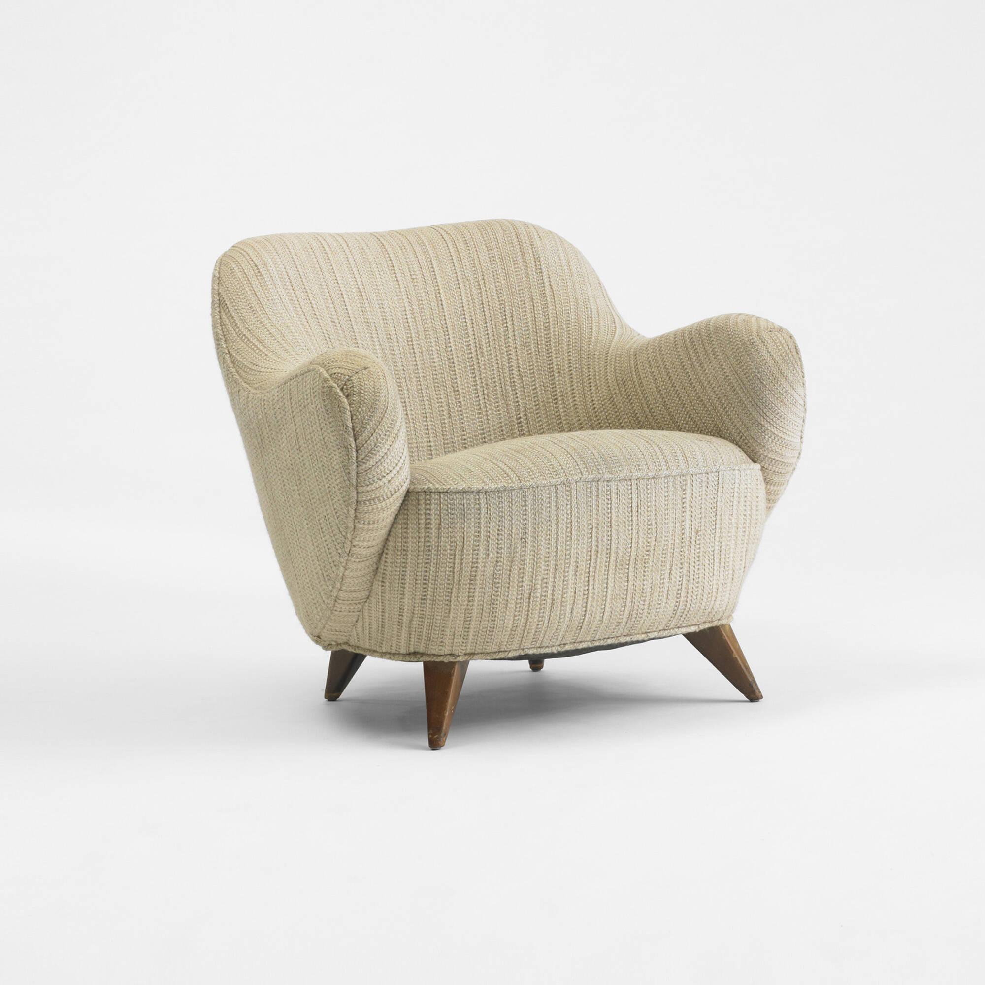 Gentil 214: Vladimir Kagan / Barrel Lounge Chair From A Manhattan Interior (1 Of 3