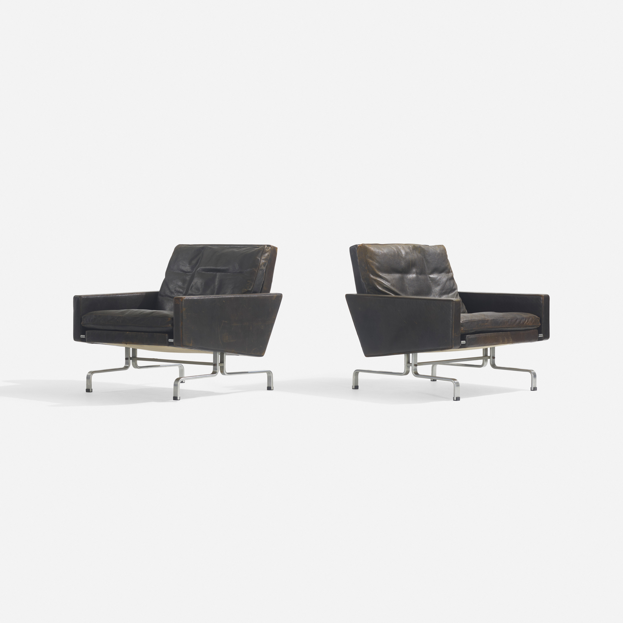 214: Poul Kjaerholm / PK 31/1 lounge chairs, pair (1 of 2)