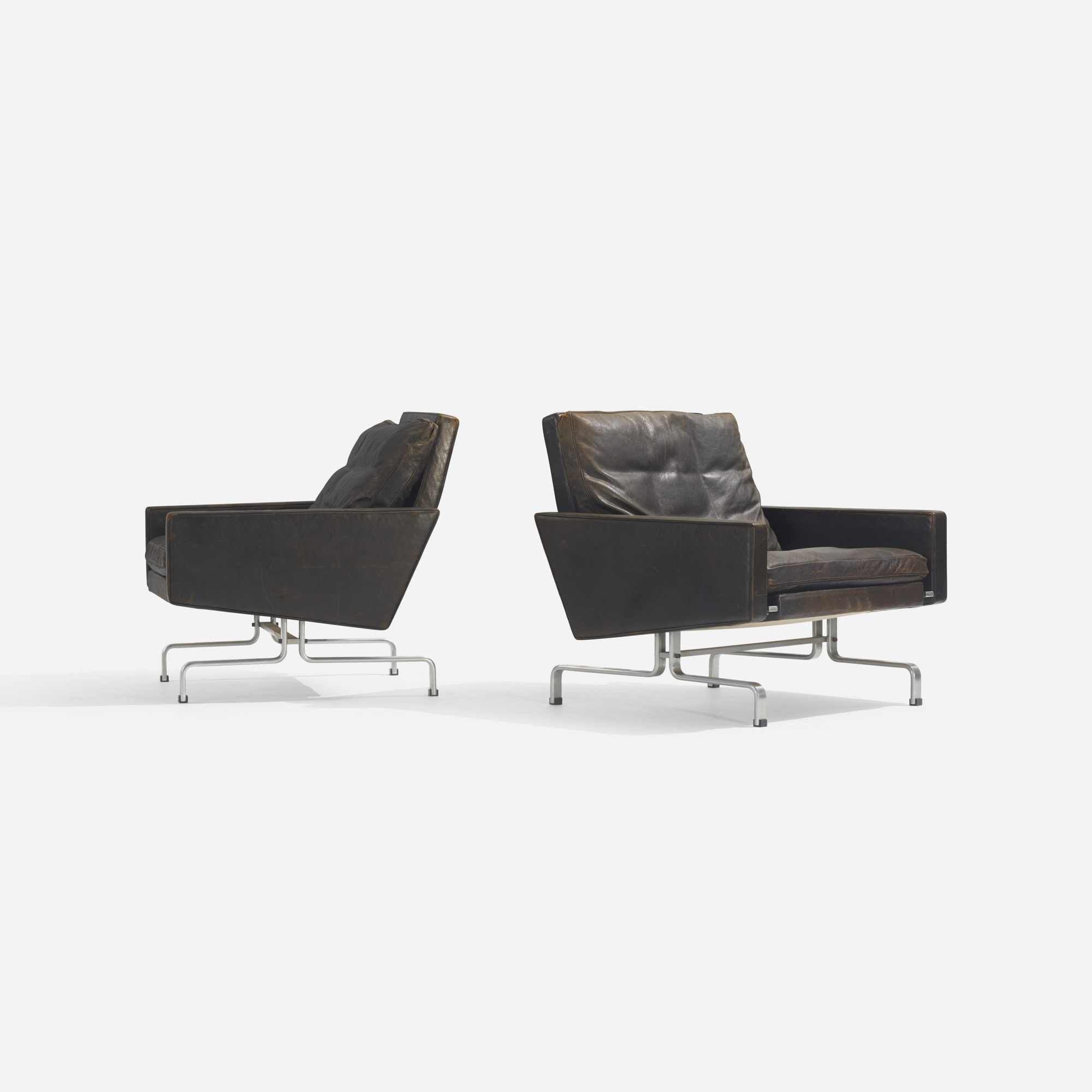 214: Poul Kjaerholm / PK 31/1 lounge chairs, pair (2 of 2)