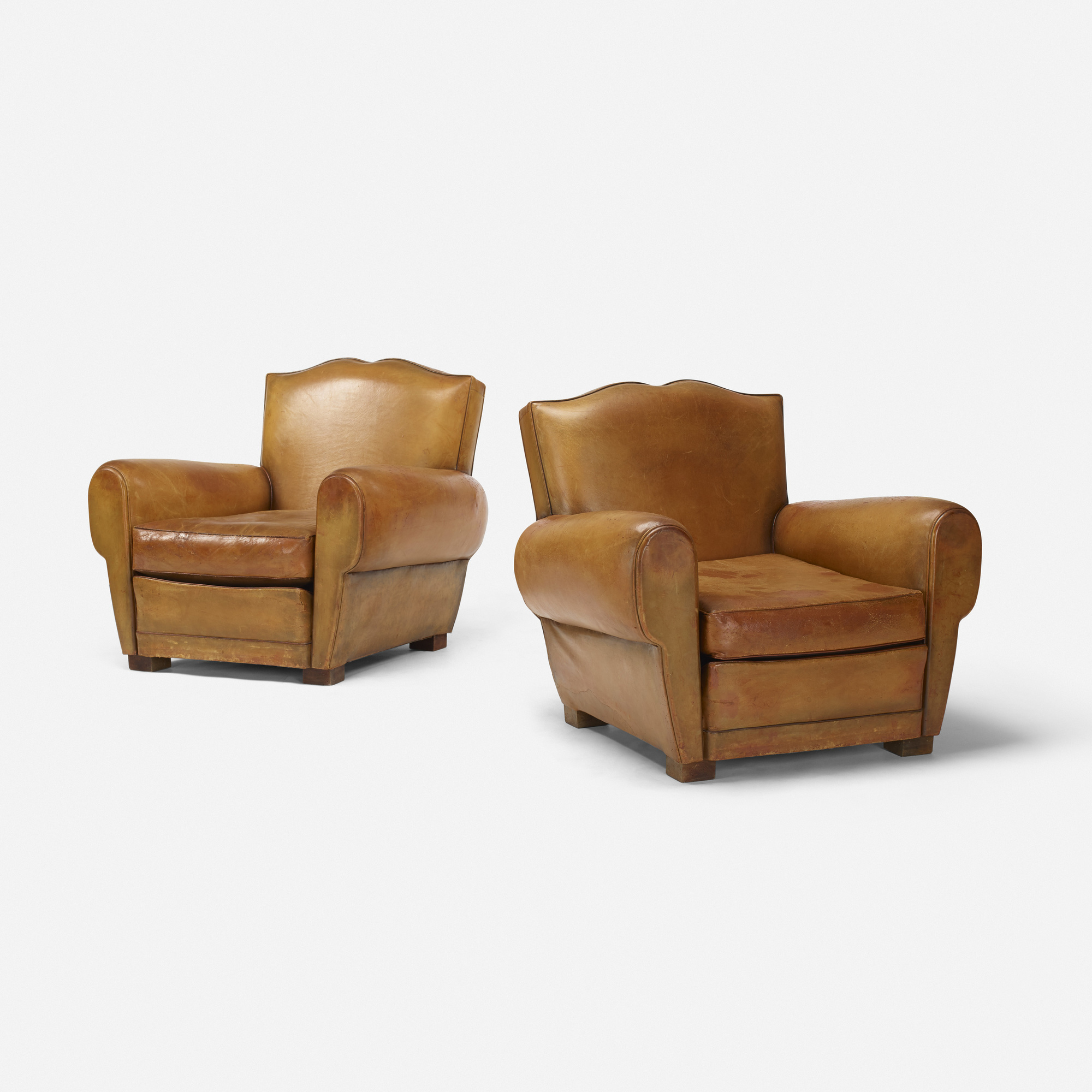 215: French / Club Chairs, Pair (1 Of 4)