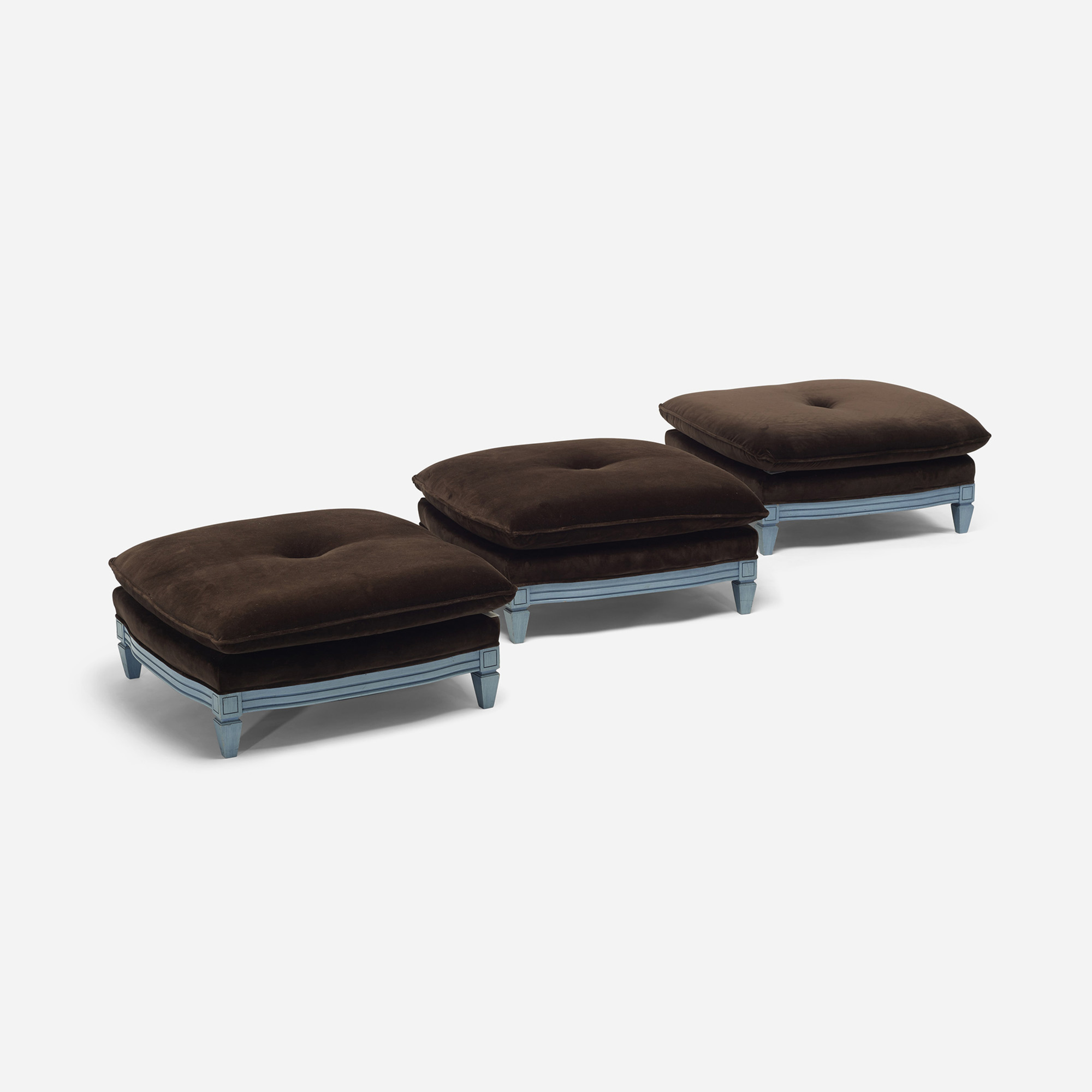 216: Contemporary / ottomans, set of three (2 of 3)