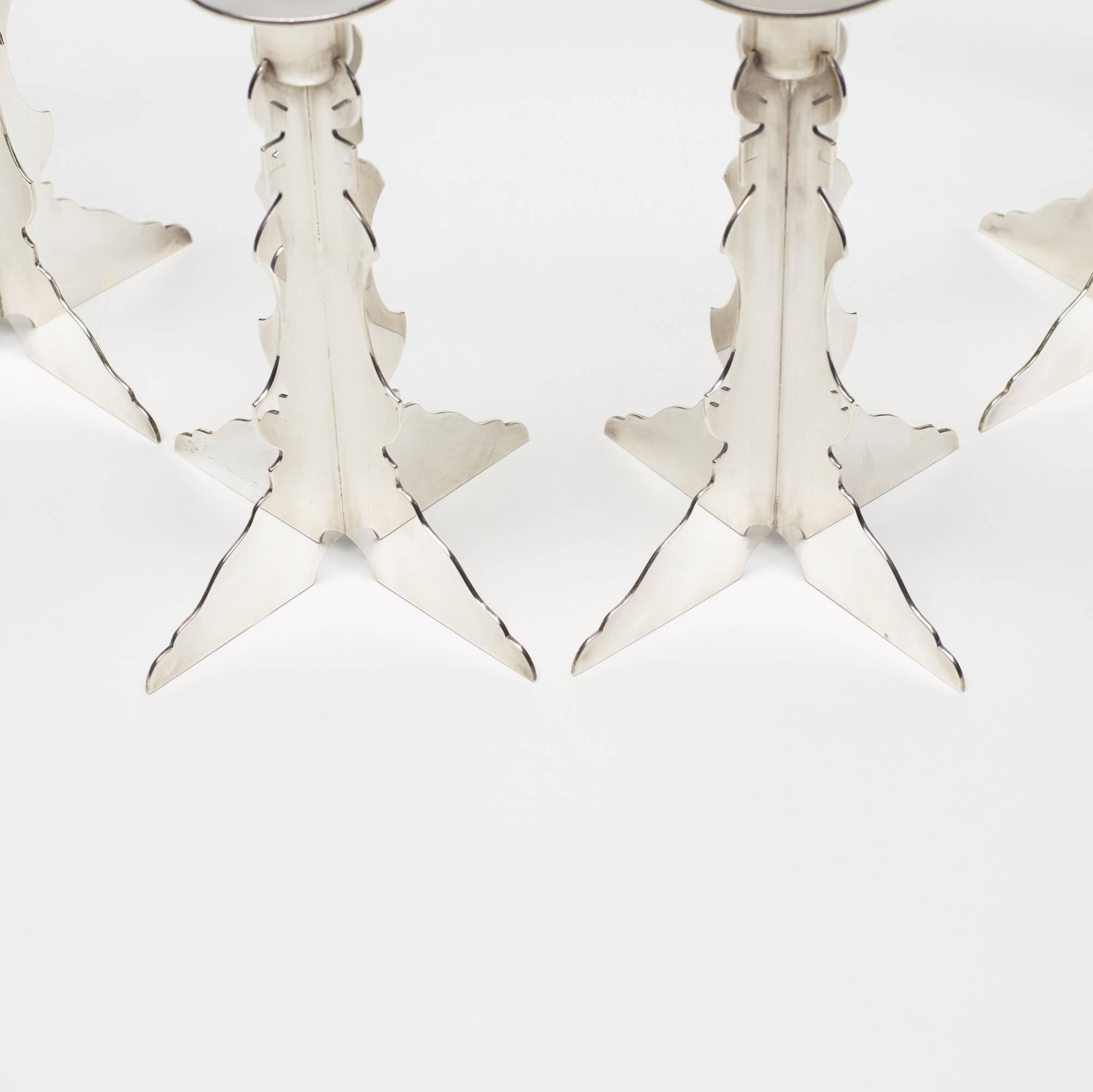 217: Robert Venturi with Denise Scott Brown / candlesticks, set of six (3 of 3)