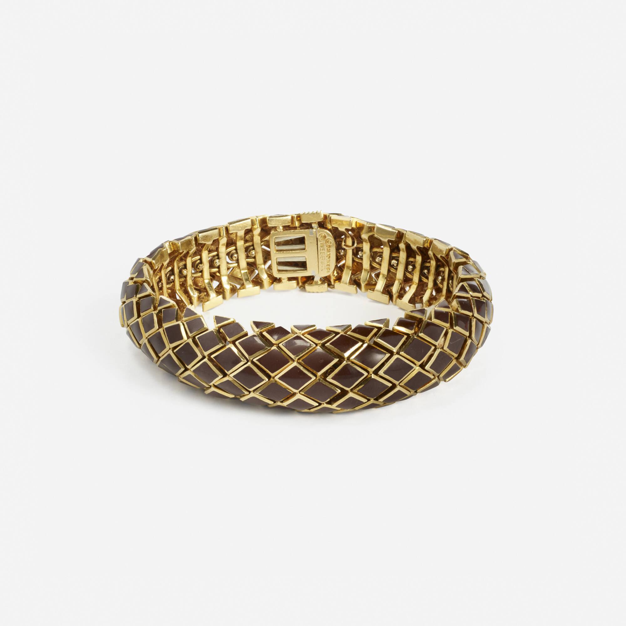 218: David Webb / A gold and enamel Snake bracelet (1 of 1)