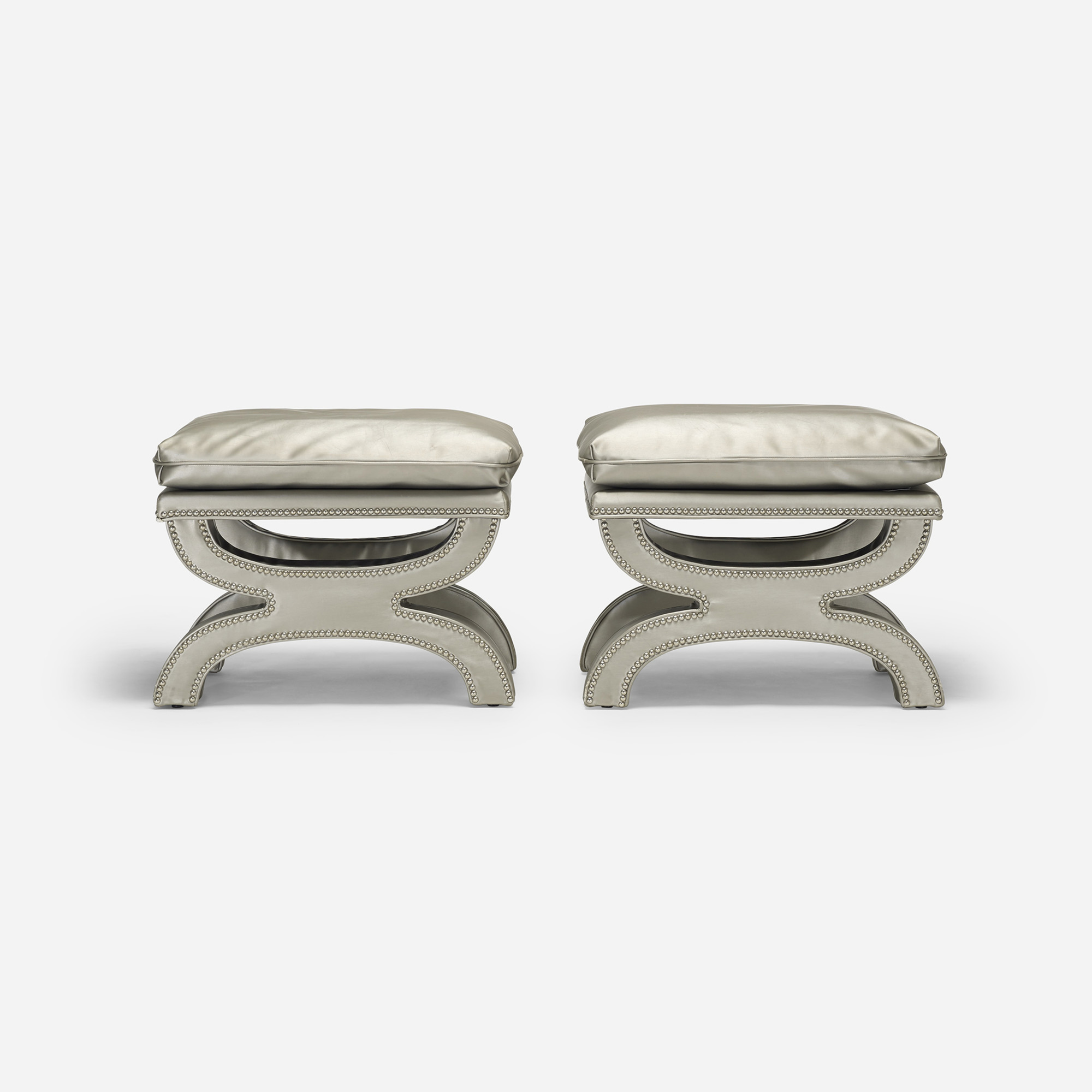 218: Contemporary / stools, pair (1 of 4)