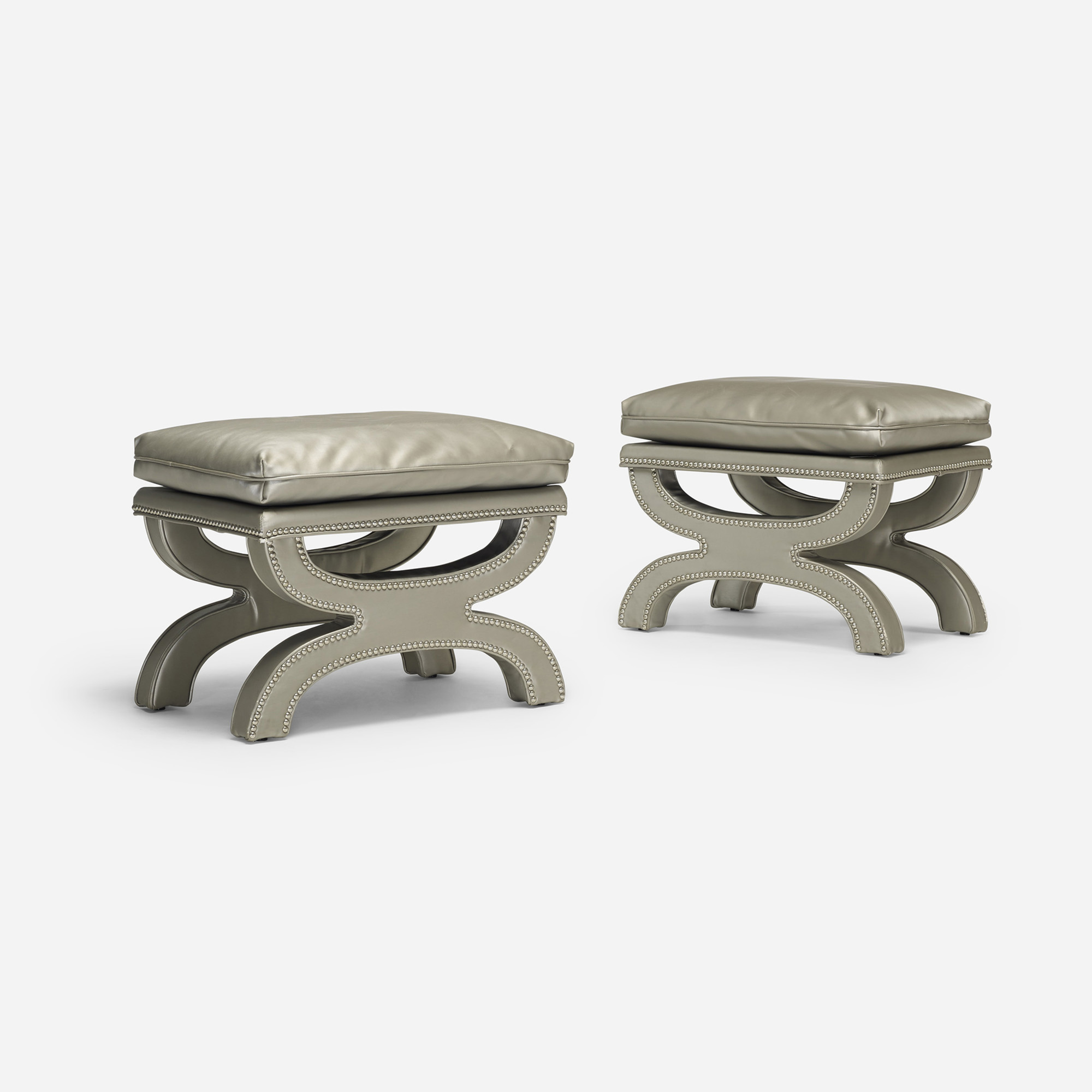 218: Contemporary / stools, pair (2 of 4)