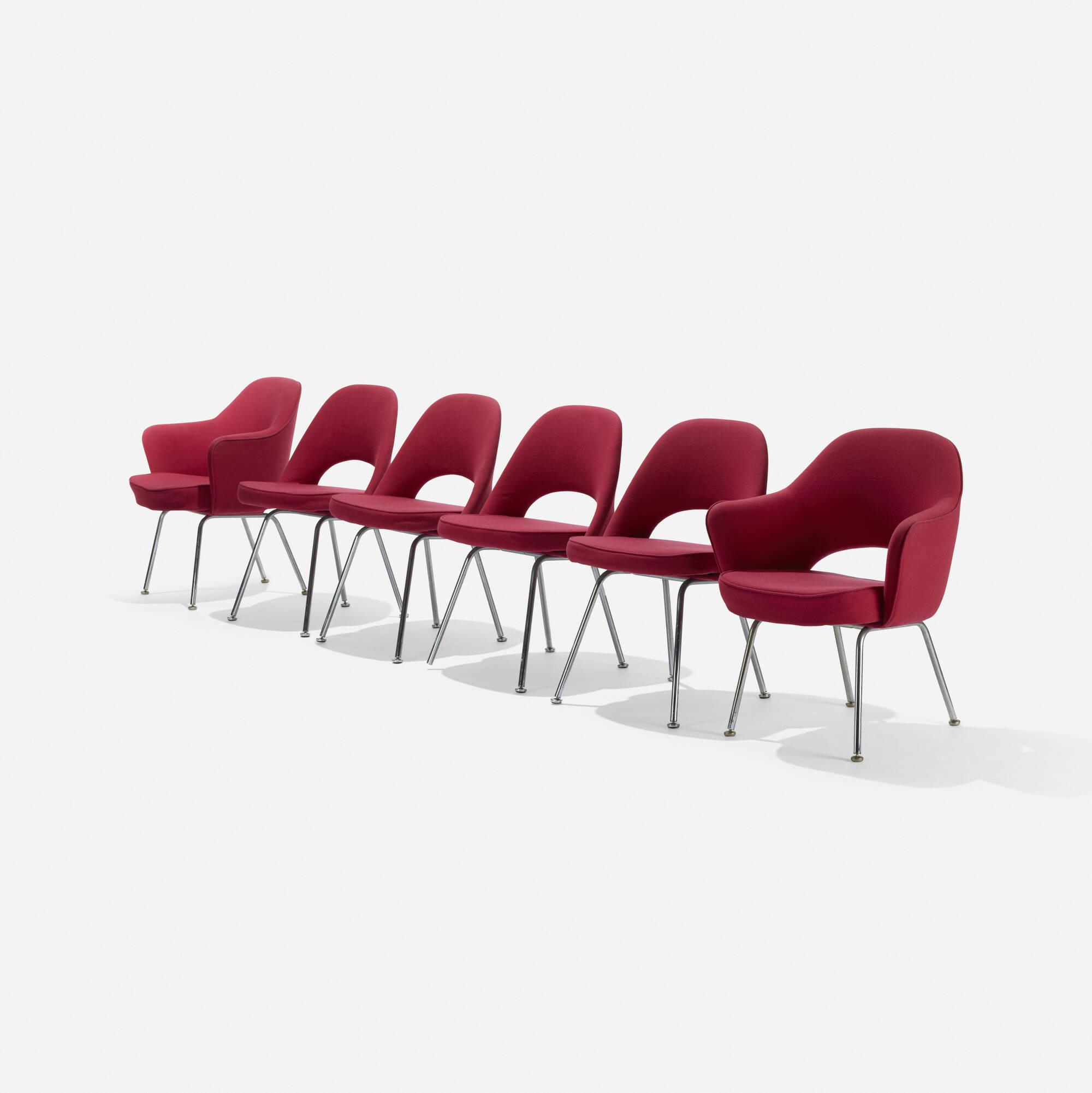 219: Eero Saarinen / dining chairs, set of six (1 of 3)