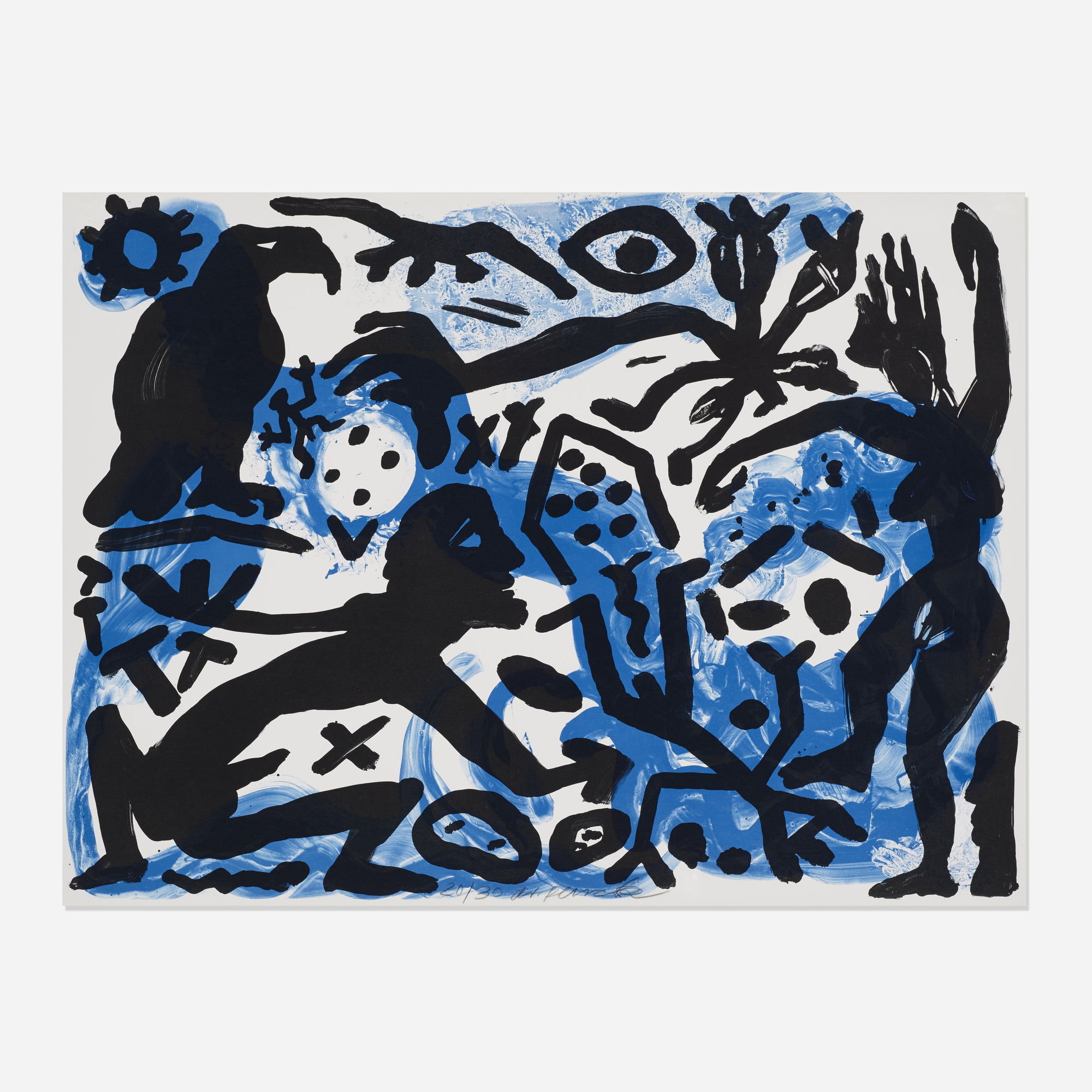 219: A. R. Penck / The Situation Now (Night) (1 of 3)