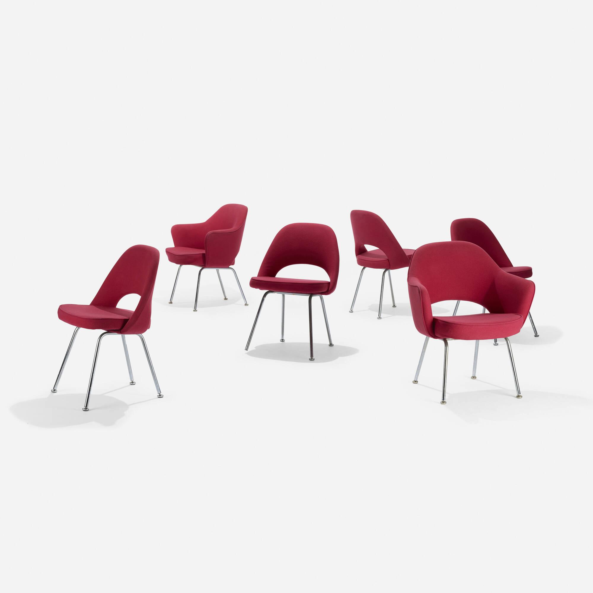 219: Eero Saarinen / dining chairs, set of six (2 of 3)