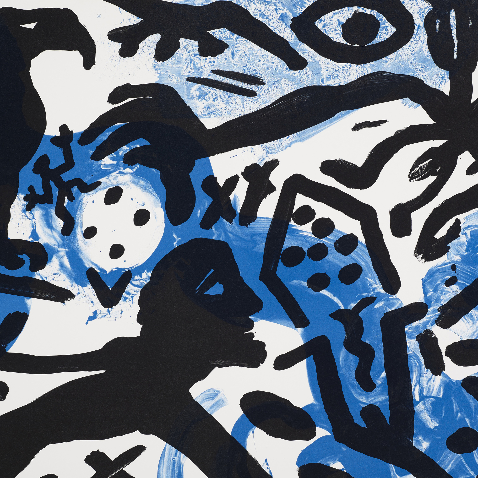 219: A. R. Penck / The Situation Now (Night) (2 of 3)