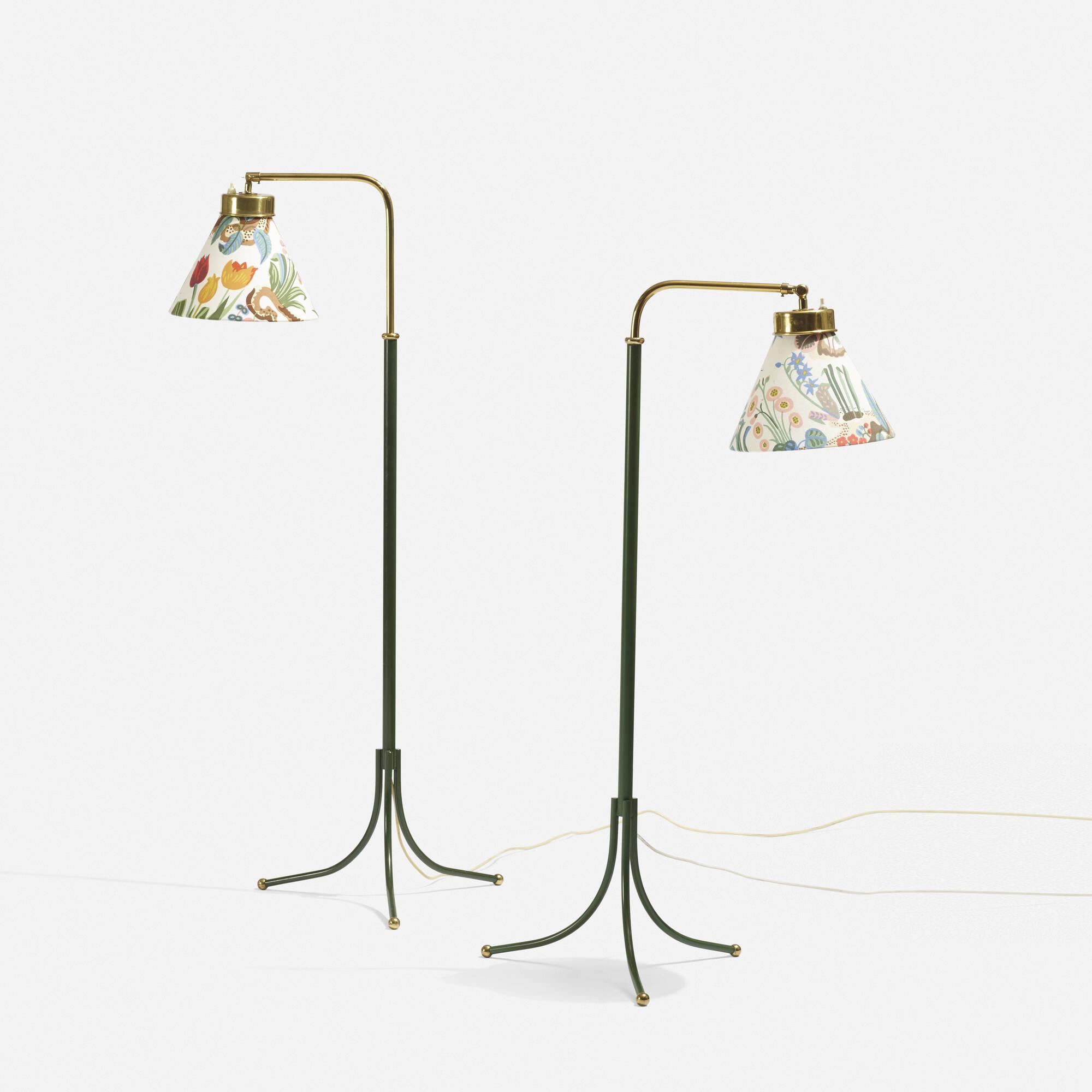 ... 220: Josef Frank / Adjustable Floor Lamps Model 1842, Pair (2 Of 3
