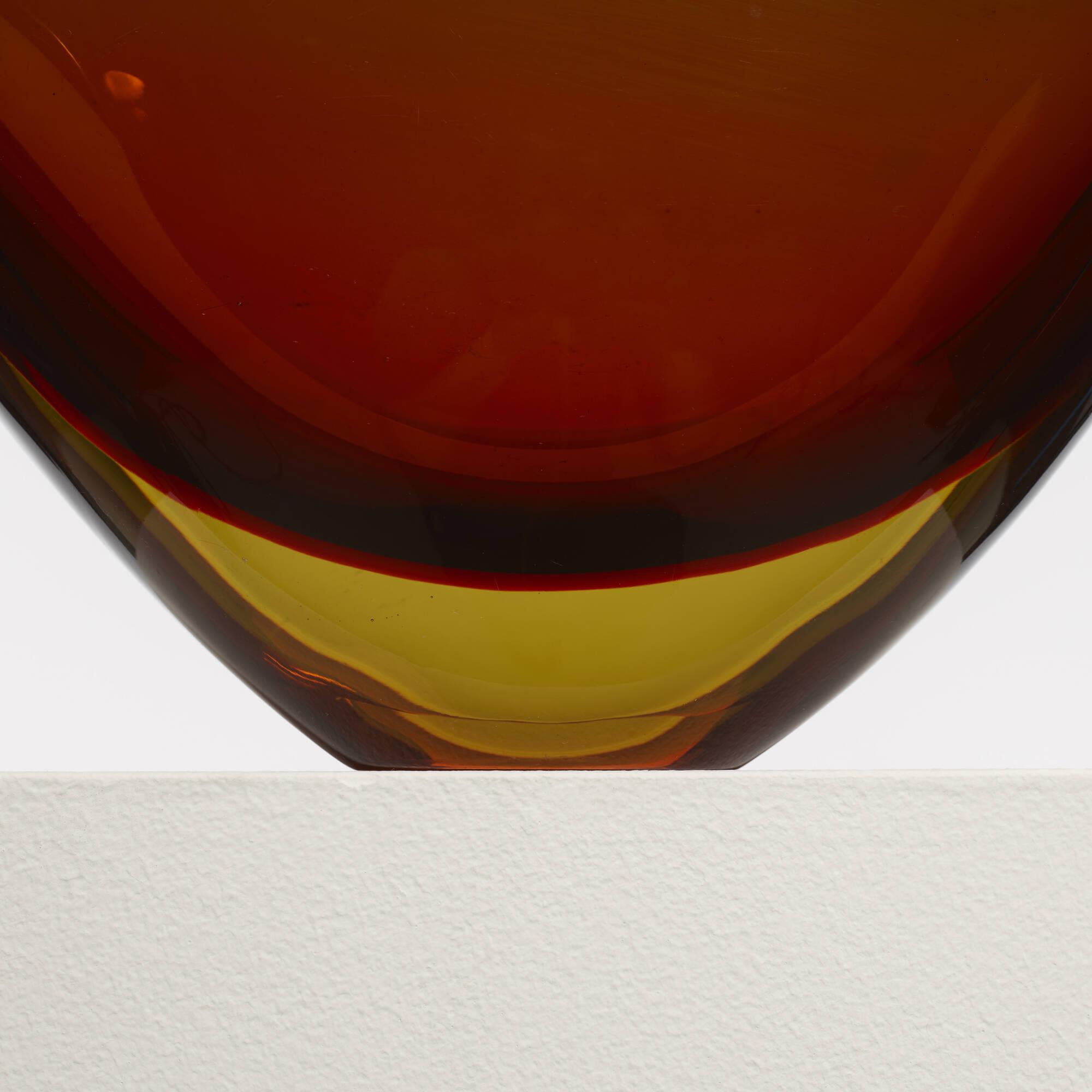 221: Flavio Poli / Sommerso vase, model 12890 (3 of 4)