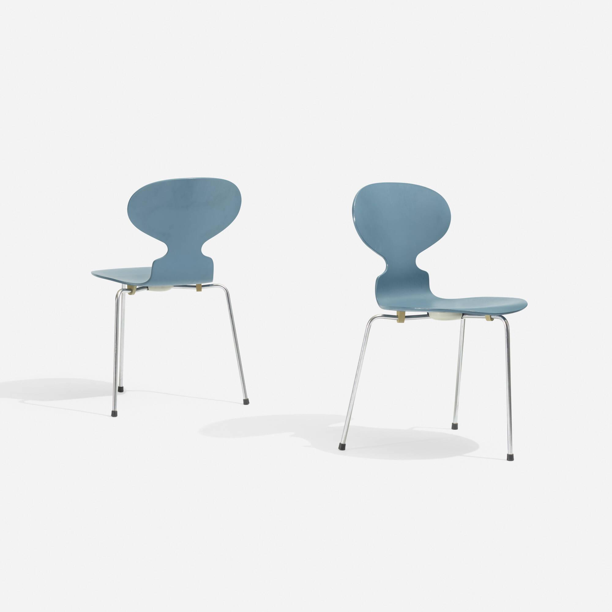 223 Arne Jacobsen Ant Chair Pair Scandinavian Design 18 May