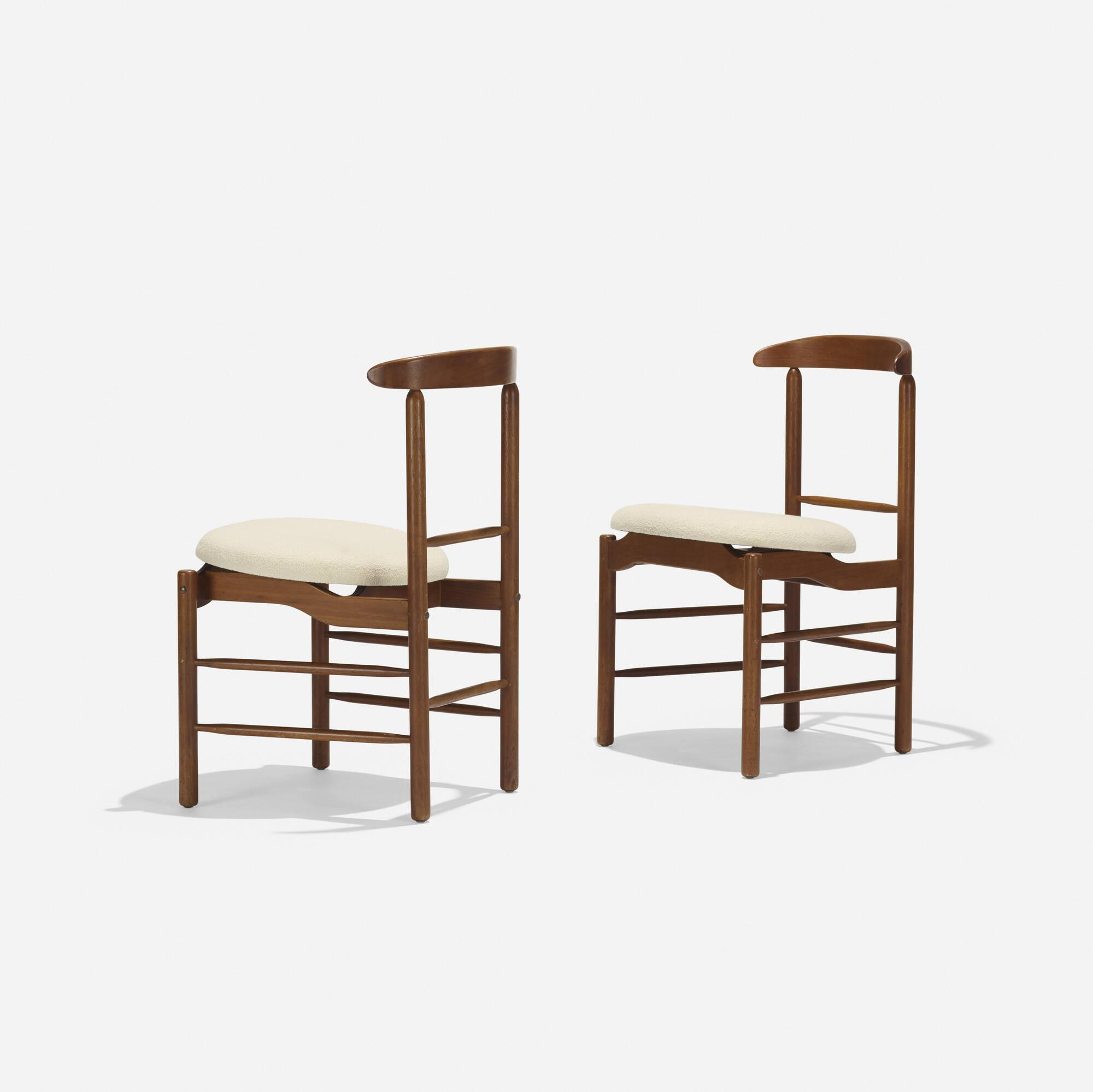224: Greta Magnusson Grossman / dining chairs, pair (2 of 3)