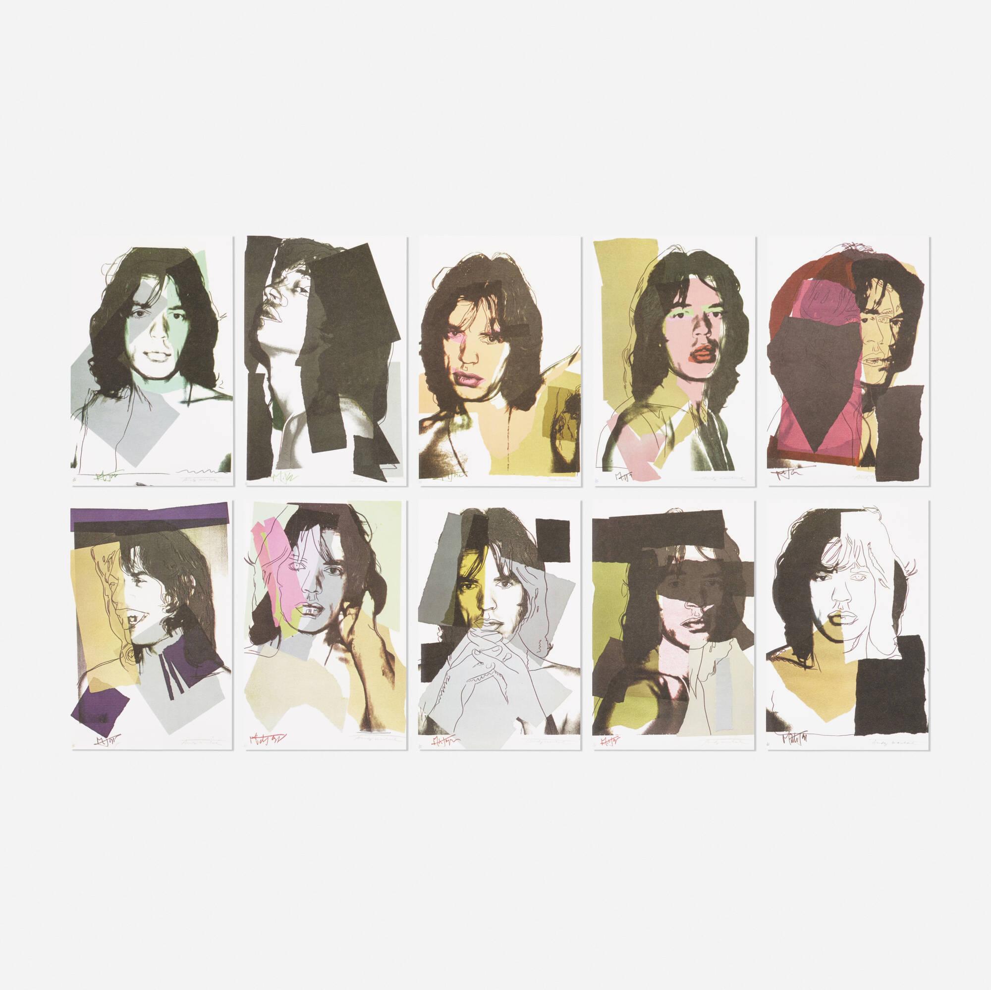 225: After Andy Warhol / Mick Jagger Sample portfolio (ten works) (1 of 1)