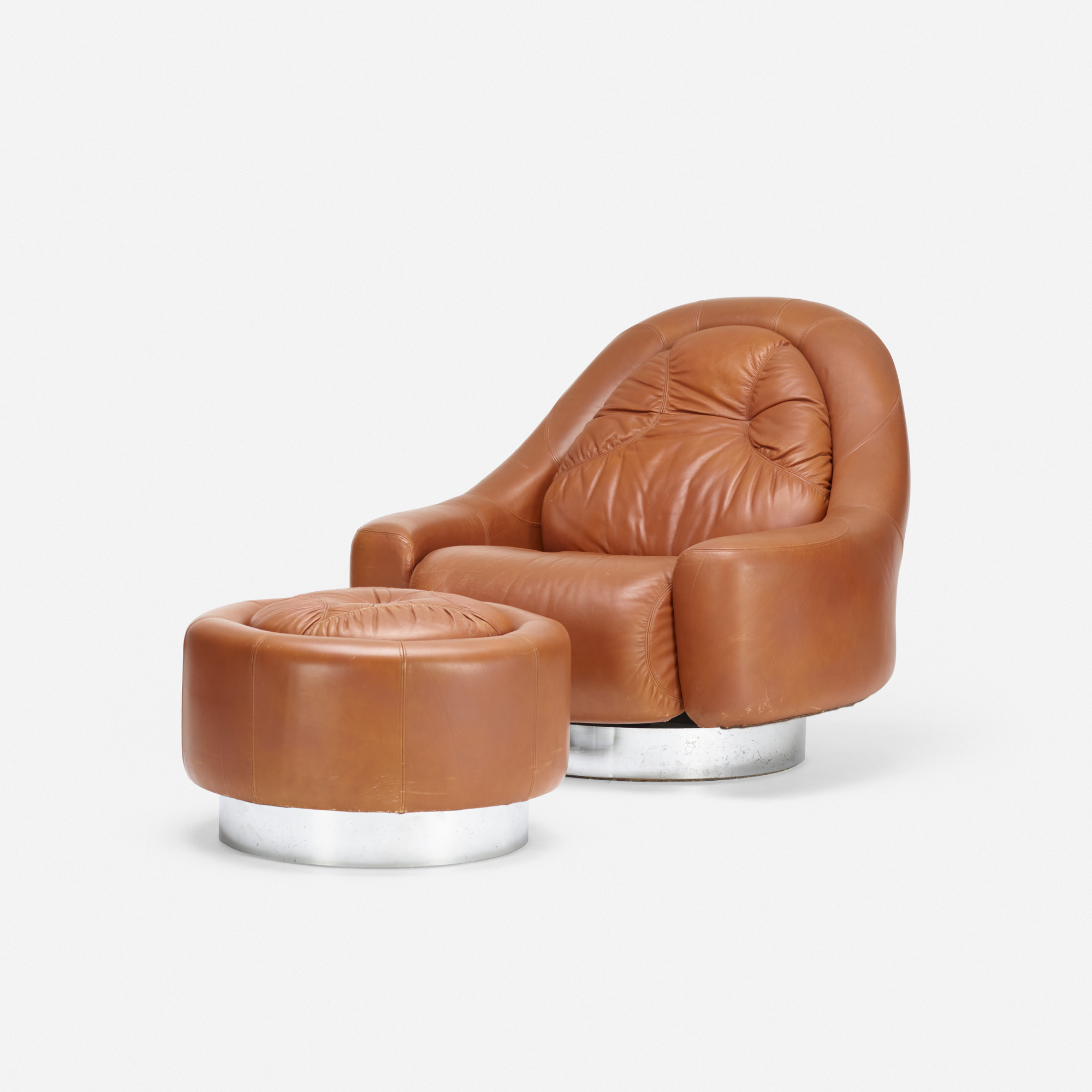 226: Guido Faleschini / lounge chair and ottoman (1 of 2)