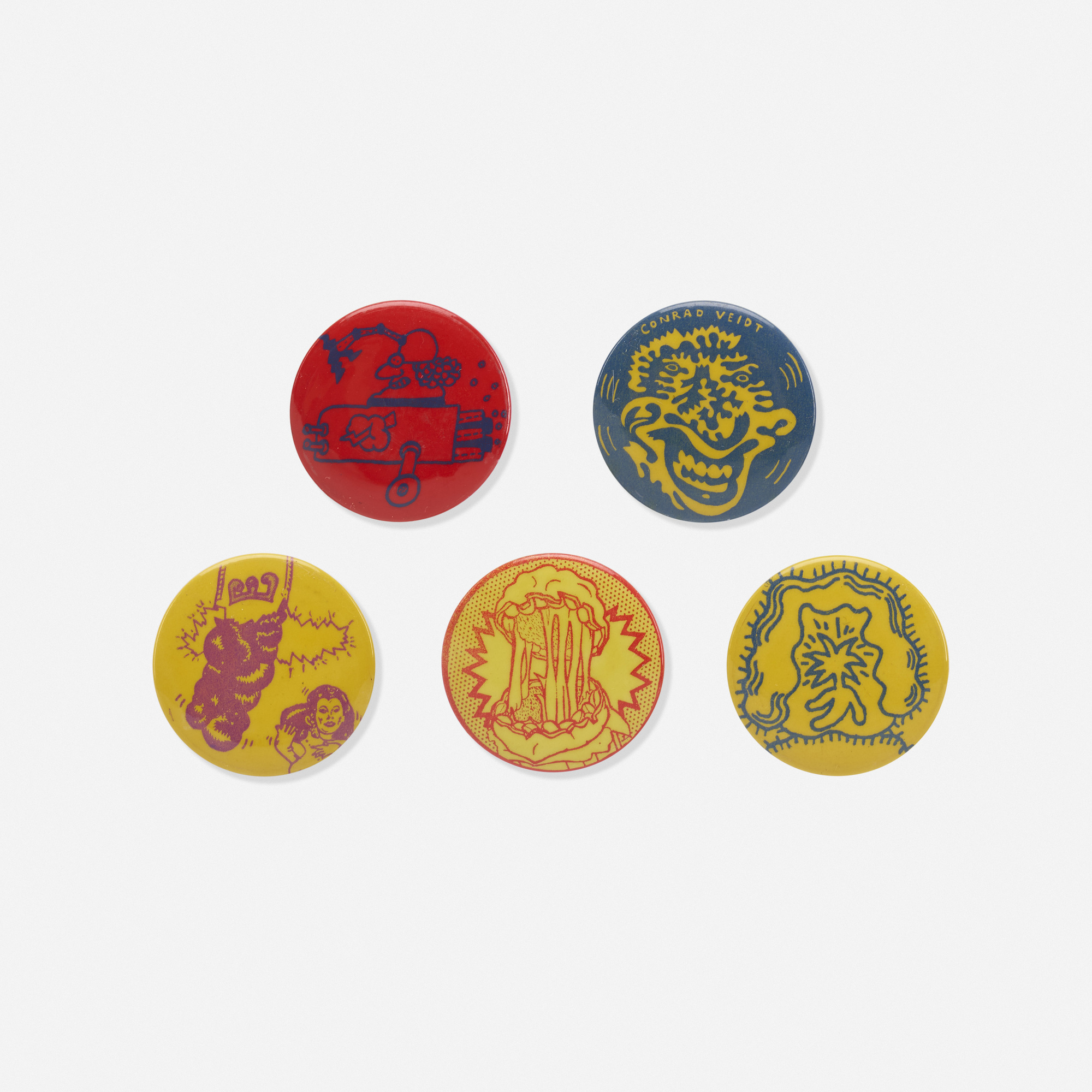 226: Hairy Who (Various Artists) / buttons (complete set) (1 of 1)
