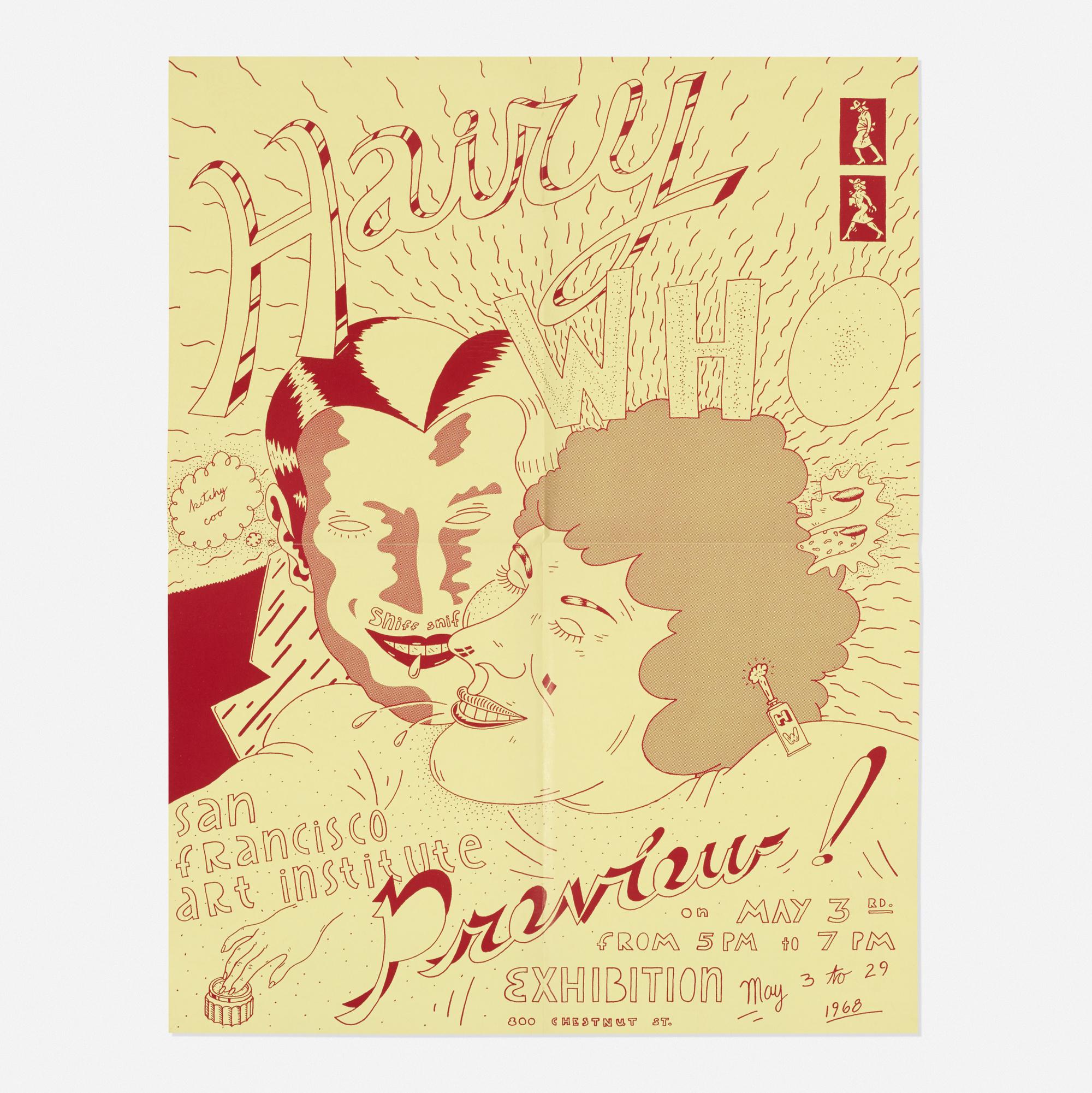 227: Jim Nutt / Untitled (exhibition poster for the San Franscisco Art Institute) (1 of 1)