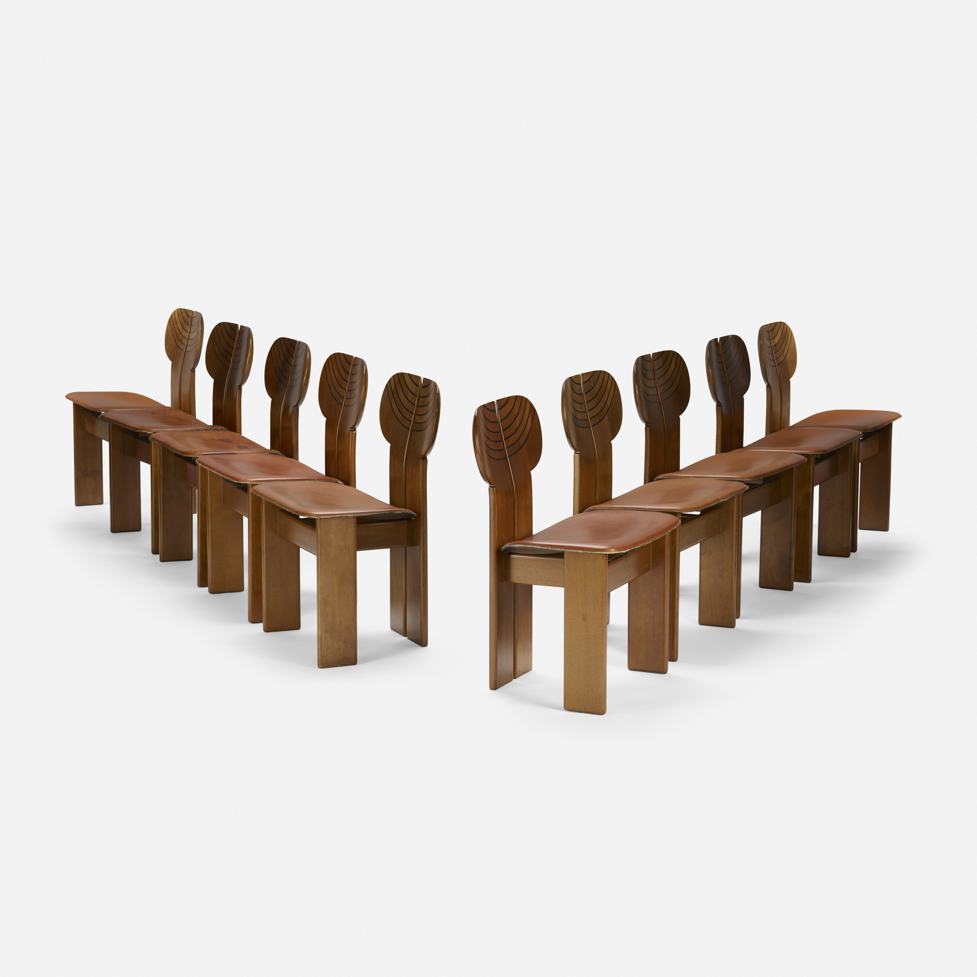 227: Afra and Tobia Scarpa / set of ten Africa chairs from the Artona series (2 of 4)