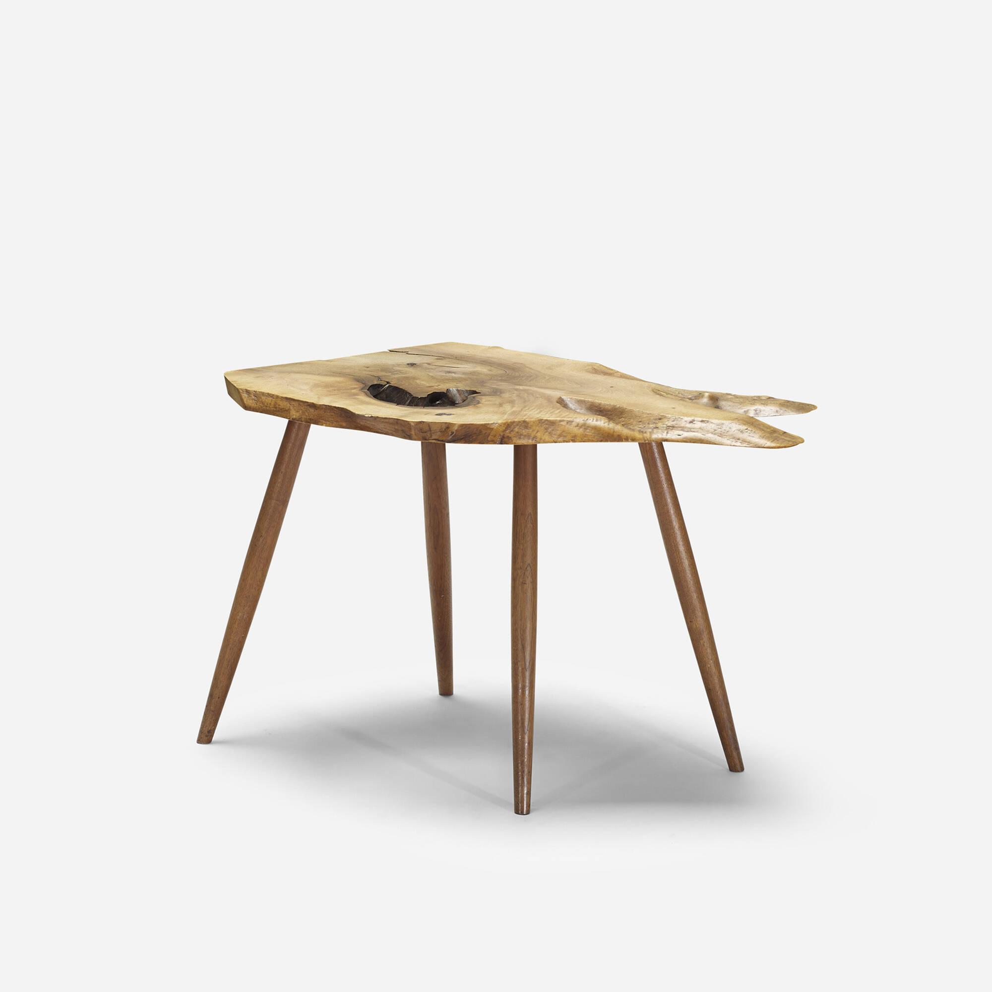 ... 227: George Nakashima / Slab End Table (2 Of 4)